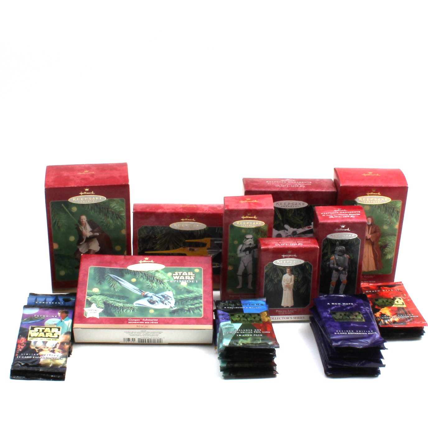 Star Wars Christmas Ornaments and Trading Cards