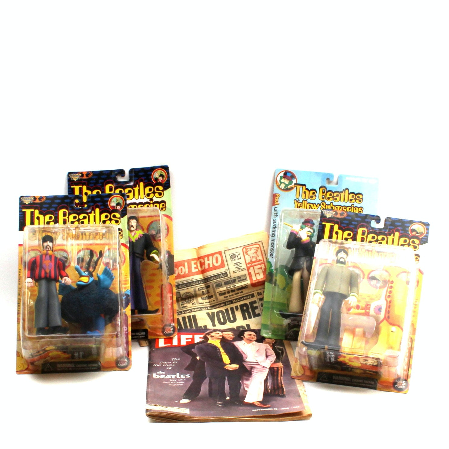 Beatle's Ephemera and Yellow Submarine Figures