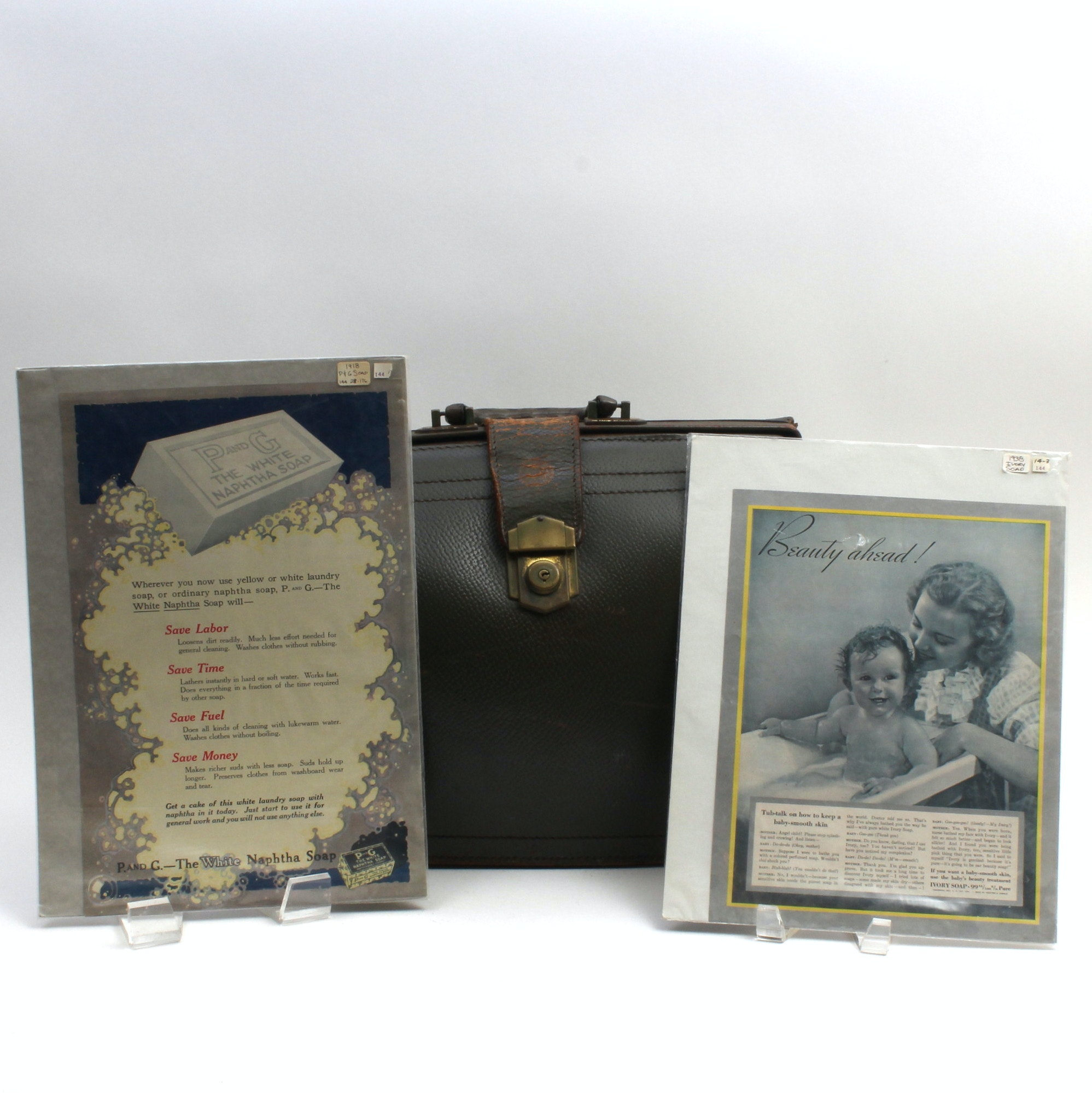 Vintage Procter and Gamble Attache Case and Soap Ads