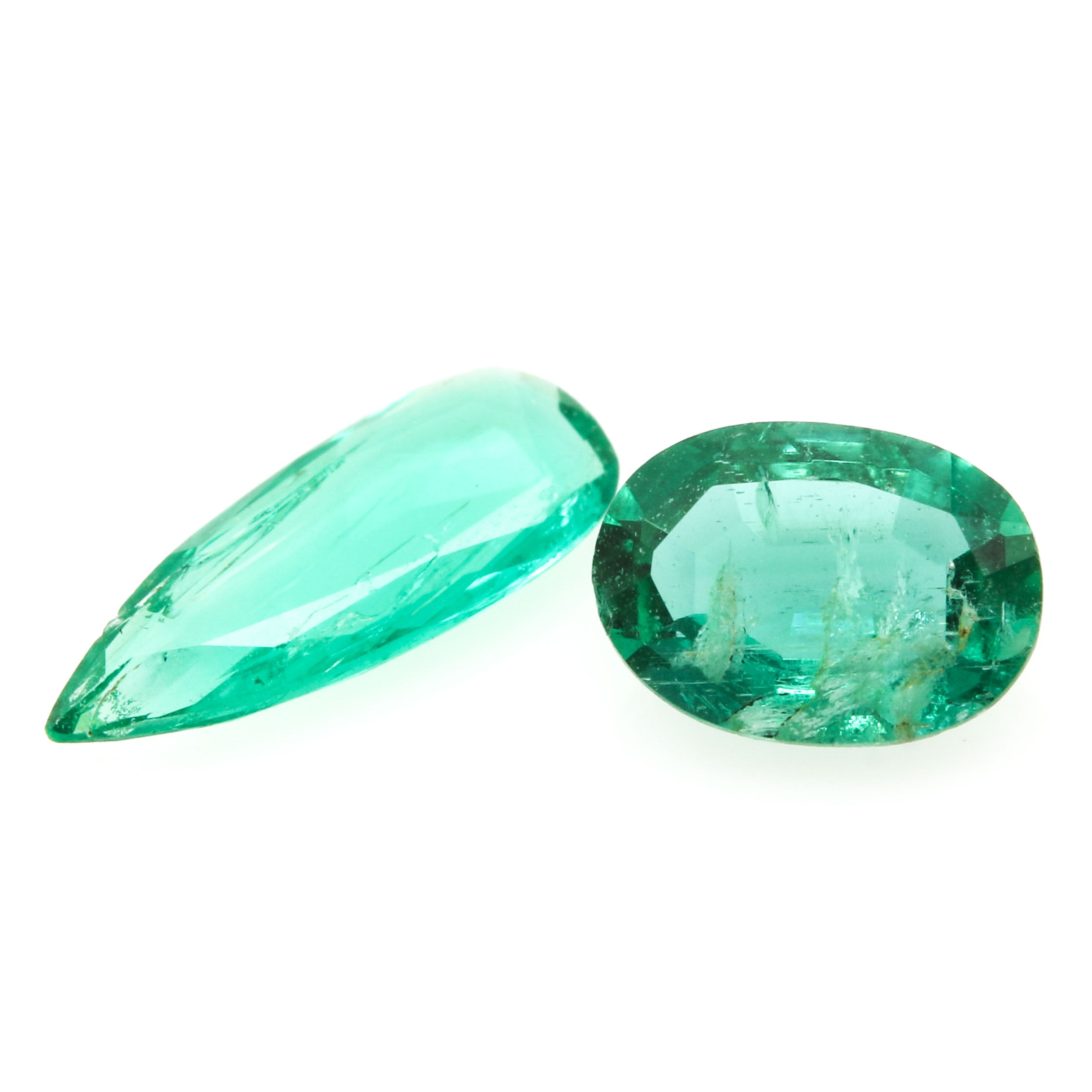 Selection of Two Loose Emeralds