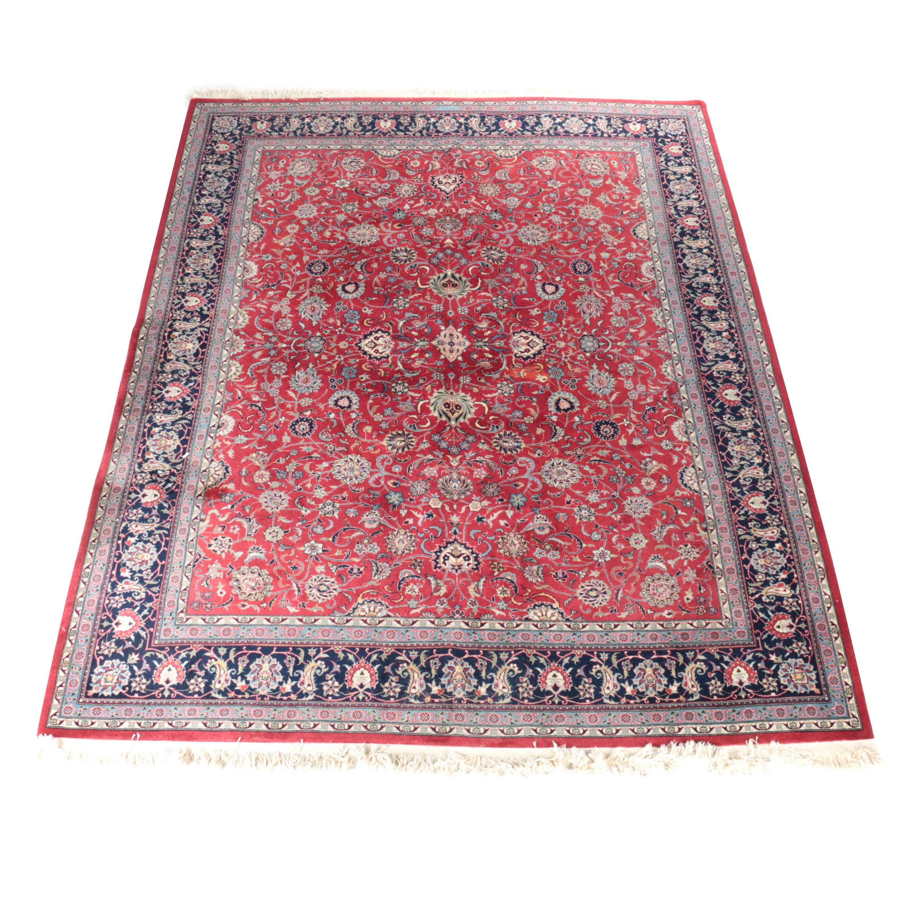 Hand-Knotted Persian Wool Herat Area Rug