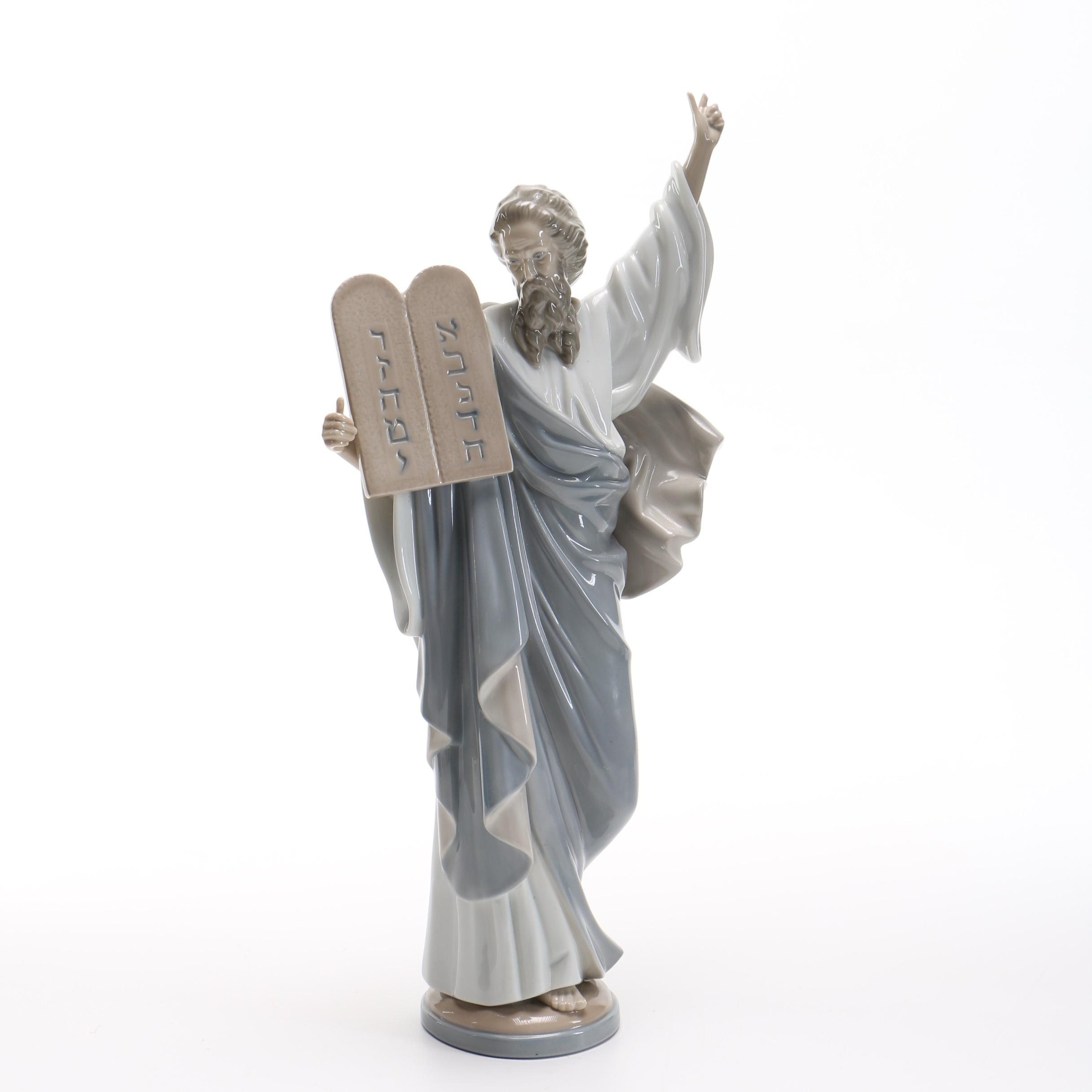 """LLadro """"Moses and the 10 Commandments"""" Figurine"""