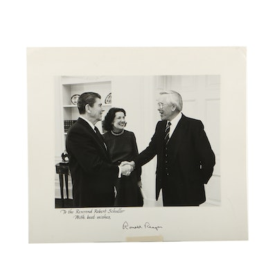 Signed Print of Ronald Reagan and Rev. Robert Schuller