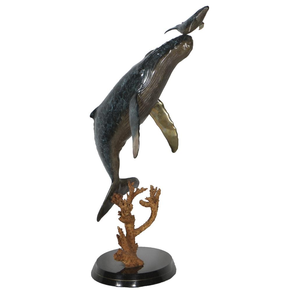 "Robert Wyland Limited Edition Bronze Sculpture ""Genesis"""