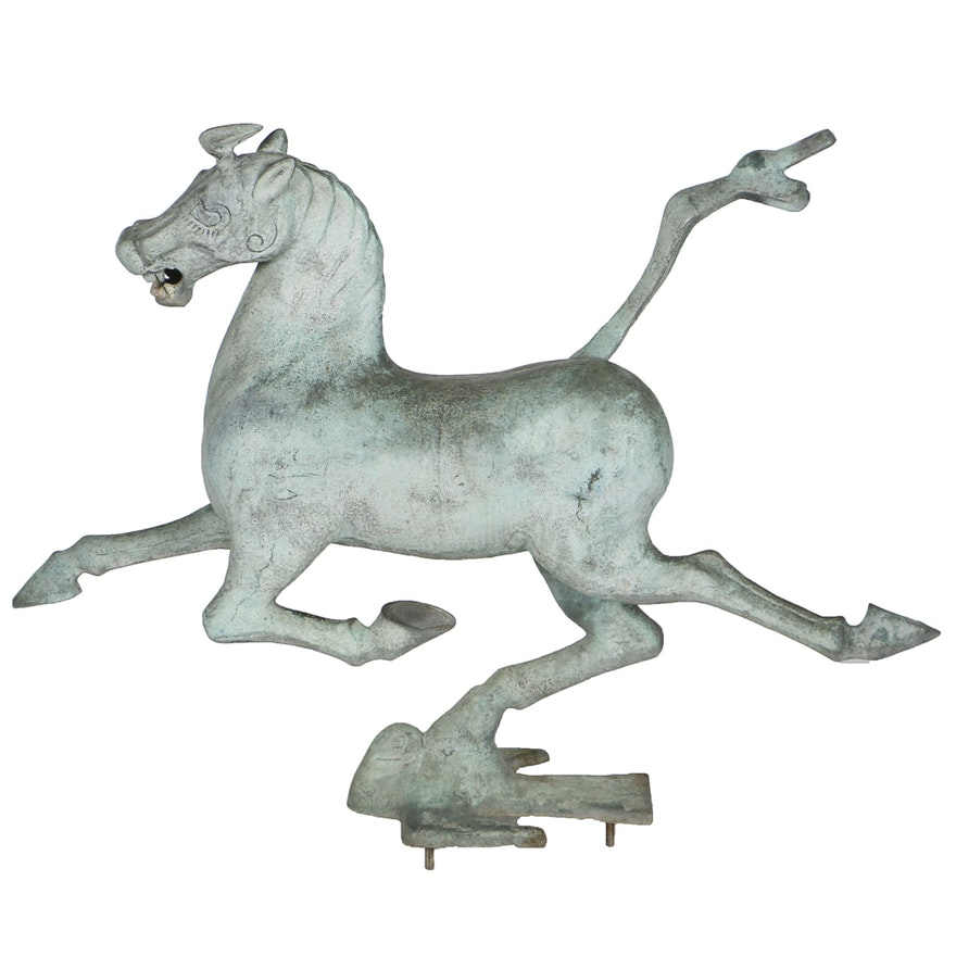 Bronze Replica Han Dynasty Gansu Flying Horse With Letter From Gregory Peck