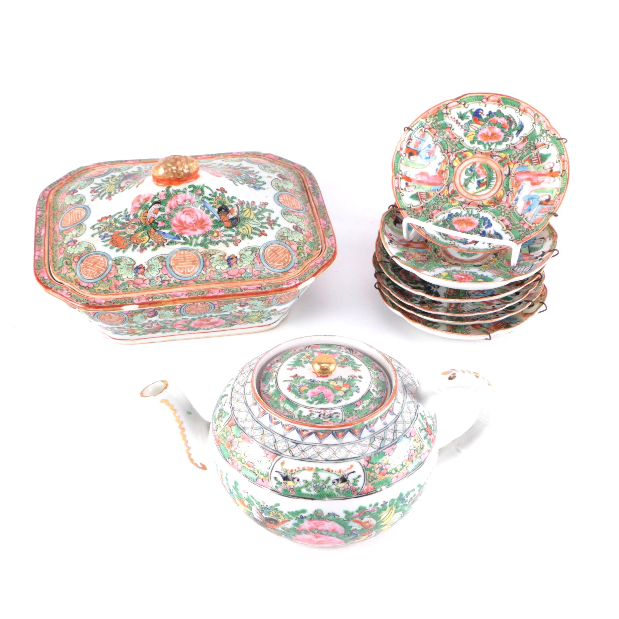 Chinese Rose Medallion Porcelain Tableware