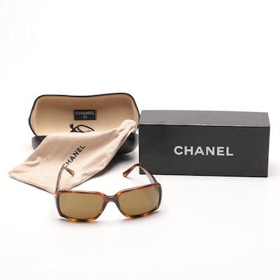Women's Chanel Tortoise Print Sunglasses
