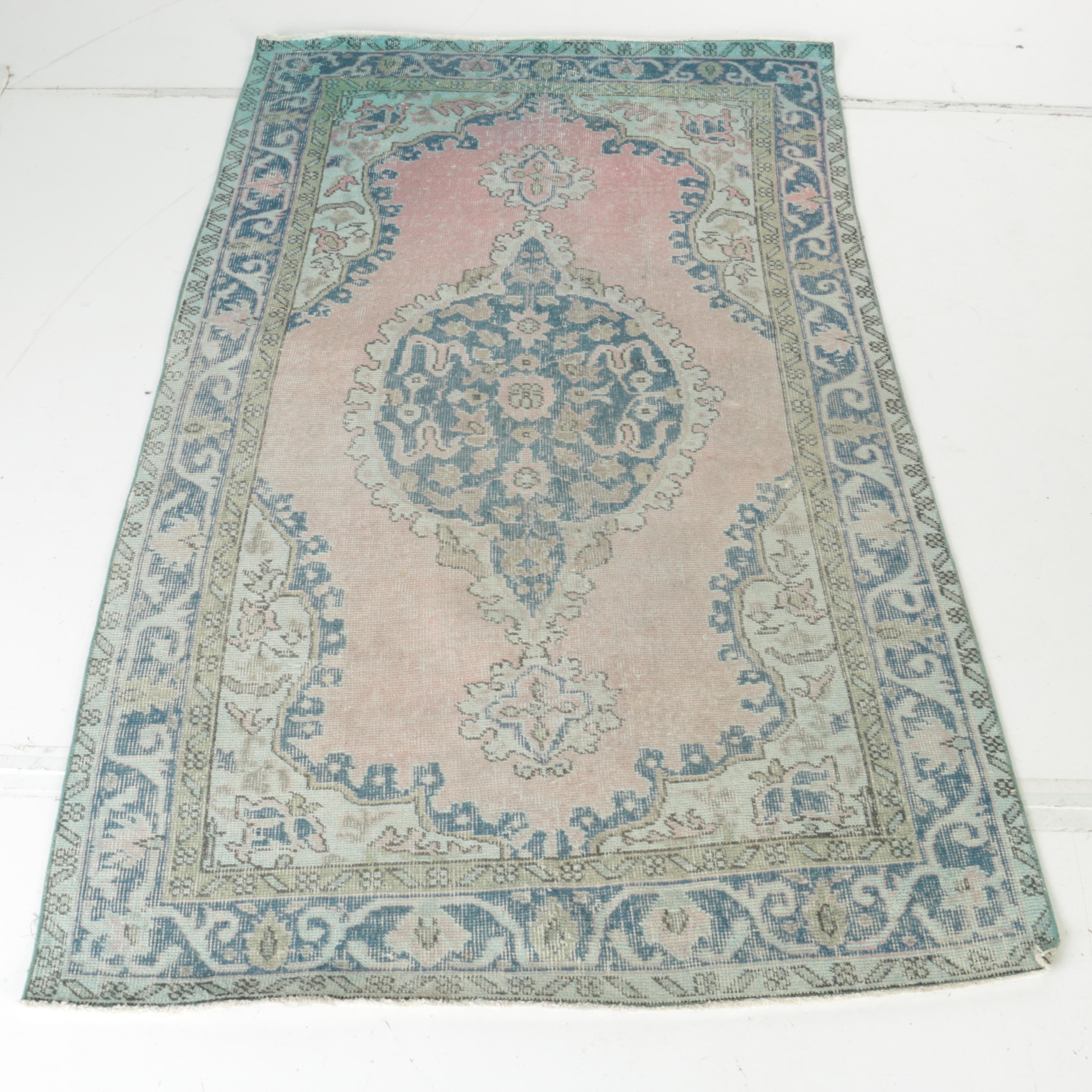 Hand-Knotted Overdyed Persian Wool Area Rug