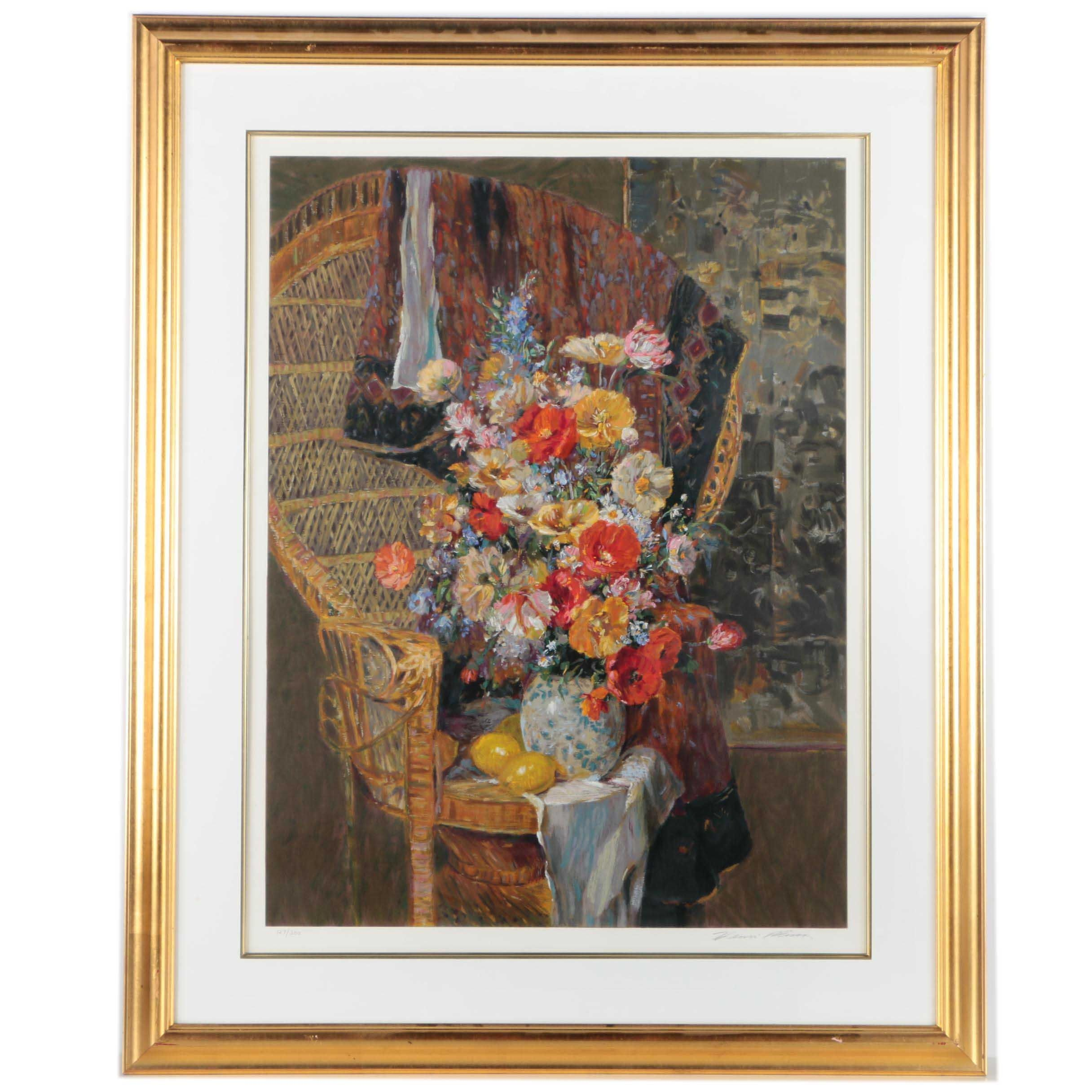 """Henri Plisson Limited Edition Serigraph on Paper """"Carole's Poppies"""""""