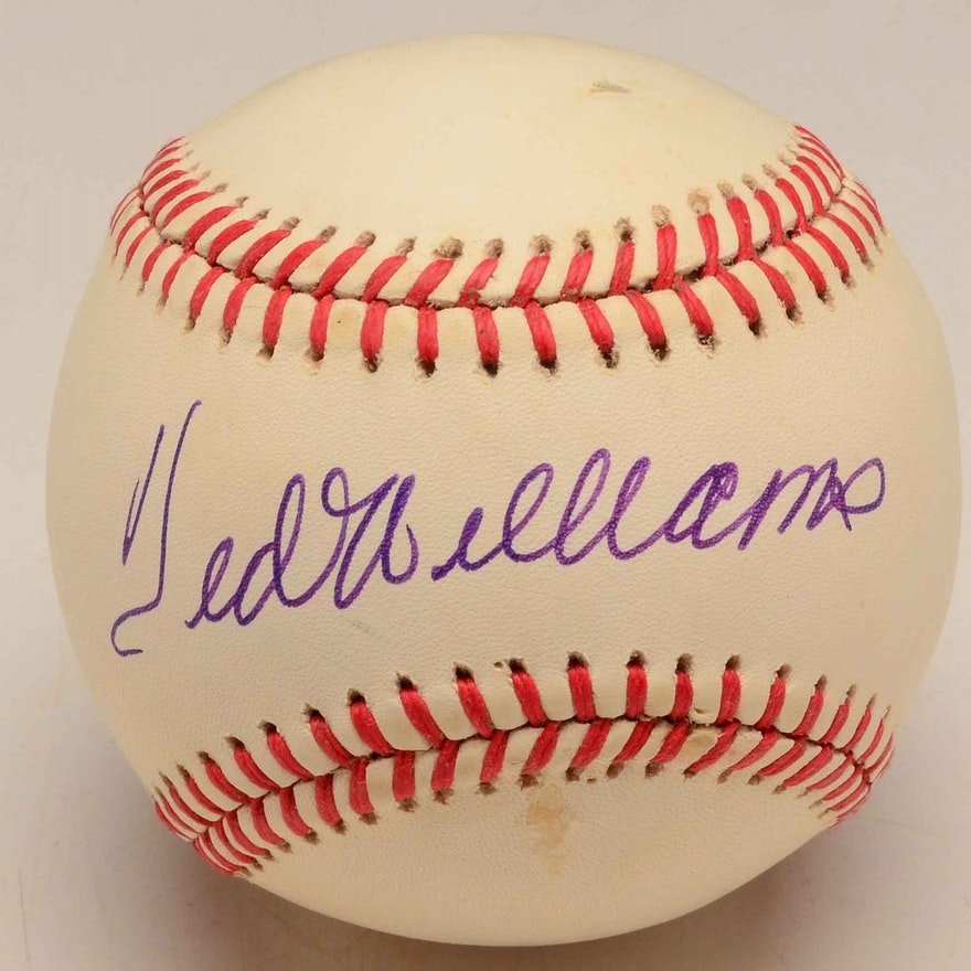 9d78c621a29 Ted Williams Signed Baseball With JSA Full Letter   EBTH