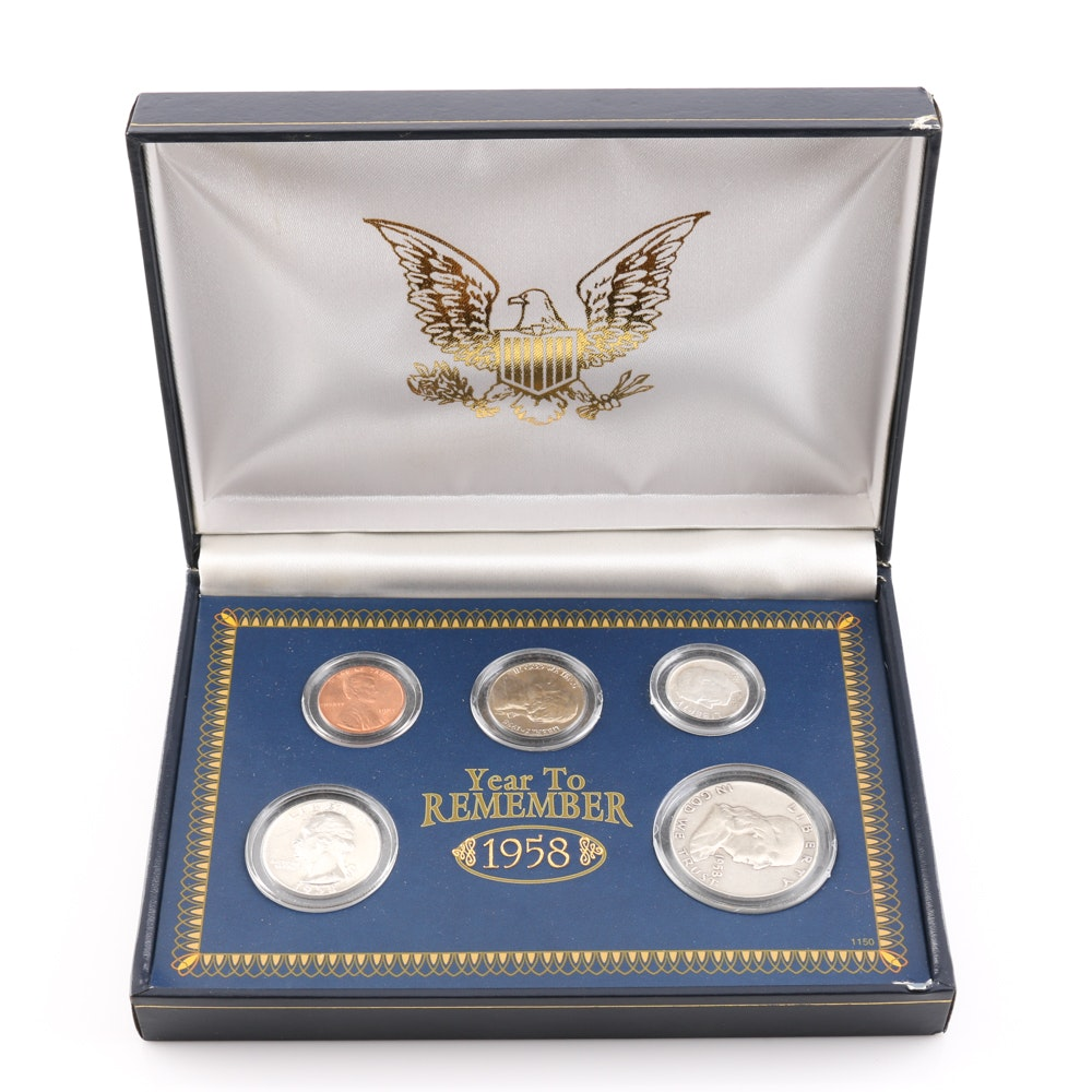 """""""Year To Remember"""" 1958 U.S. Type Coin Set"""