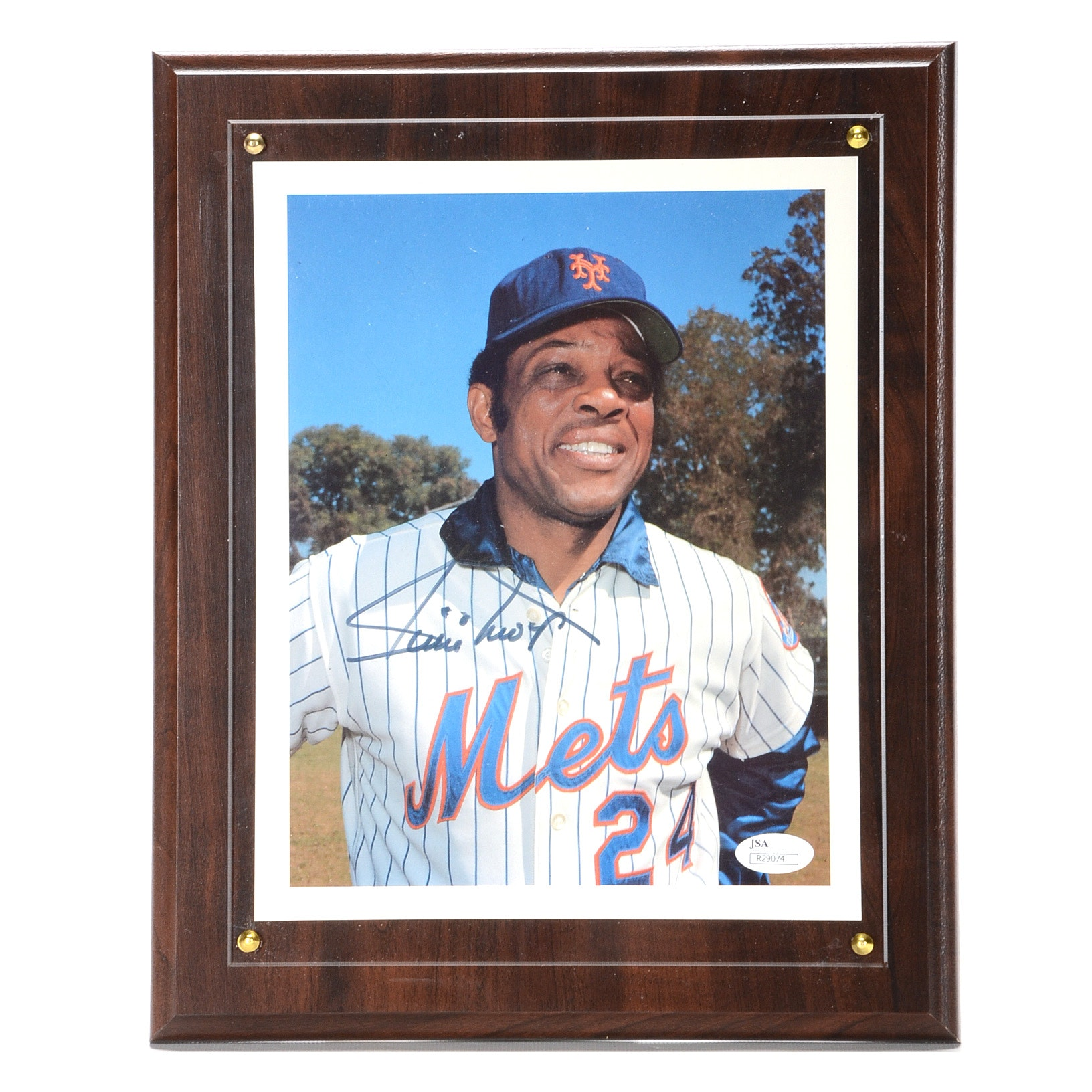 Willie Mays Signed Picture COA