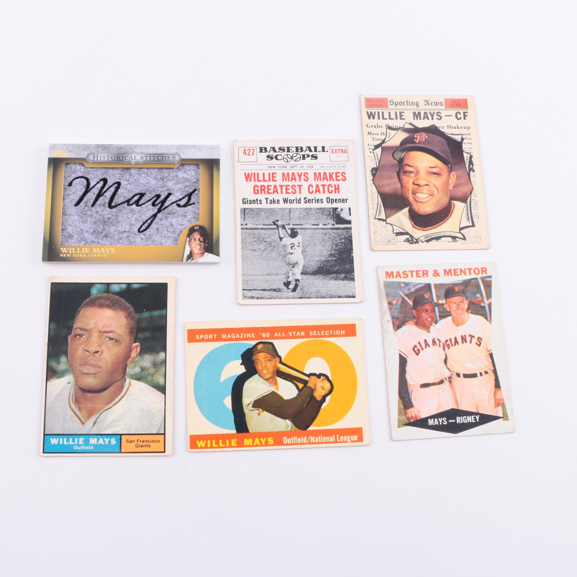 Collection of Willie Mays Baseball Cards