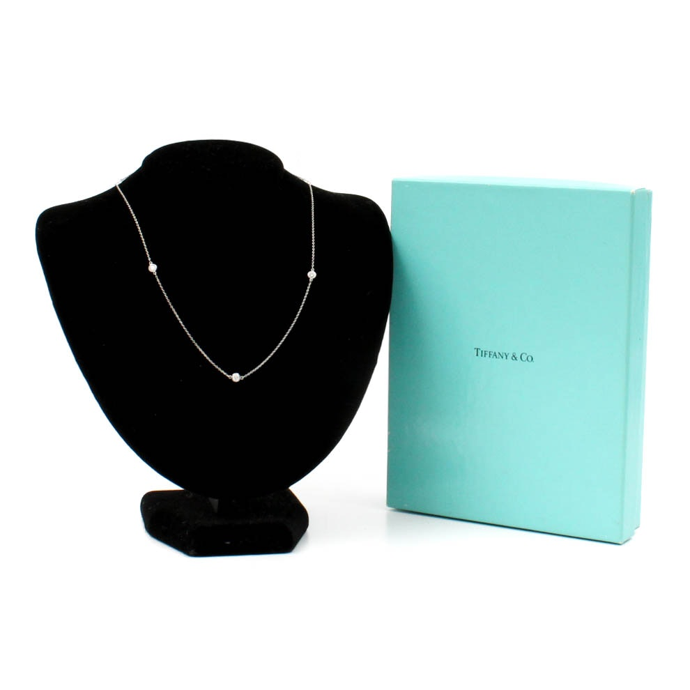 Elsa Peretti for Tiffany & Co. Platinum Diamonds By the Yard Necklace