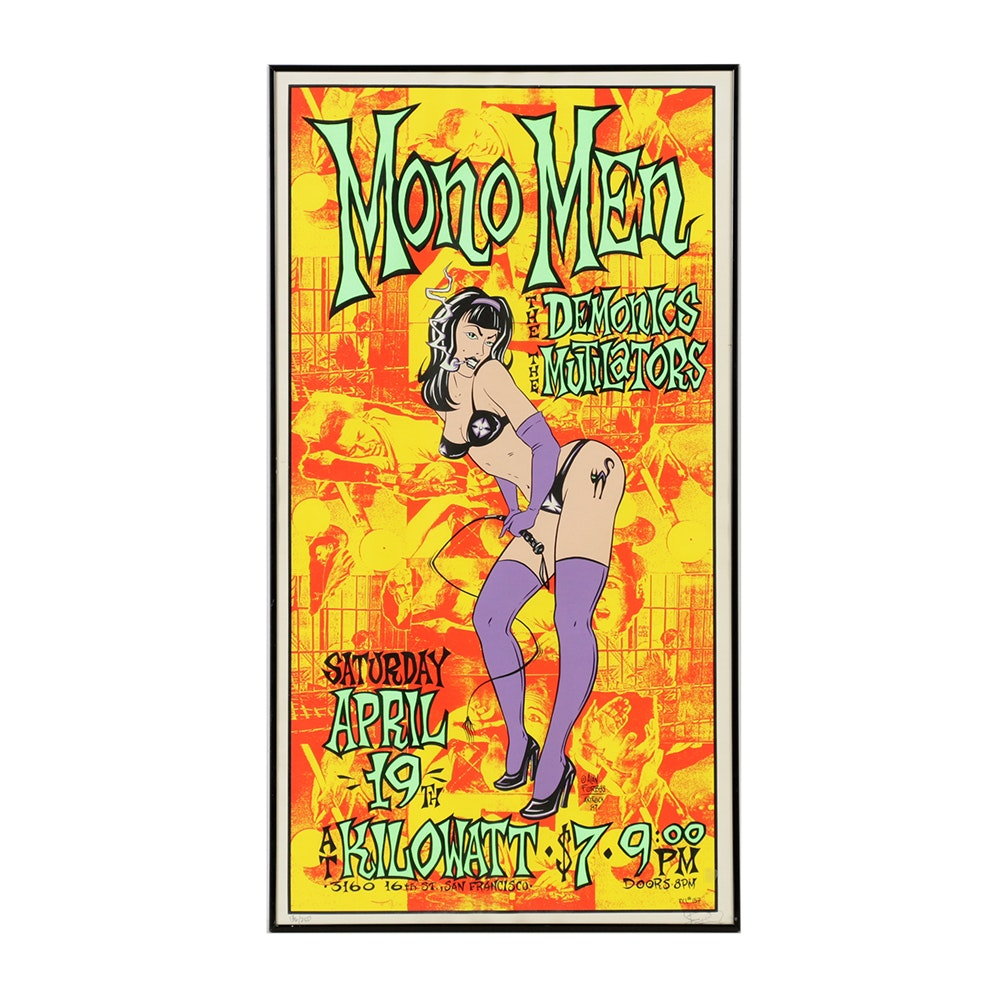 Alan Forbes Limited Edition Serigraph Poster for The Mono Men