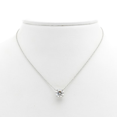 Tiffany & Co. Platinum and 1.74 Carat Diamond Solitaire Necklace