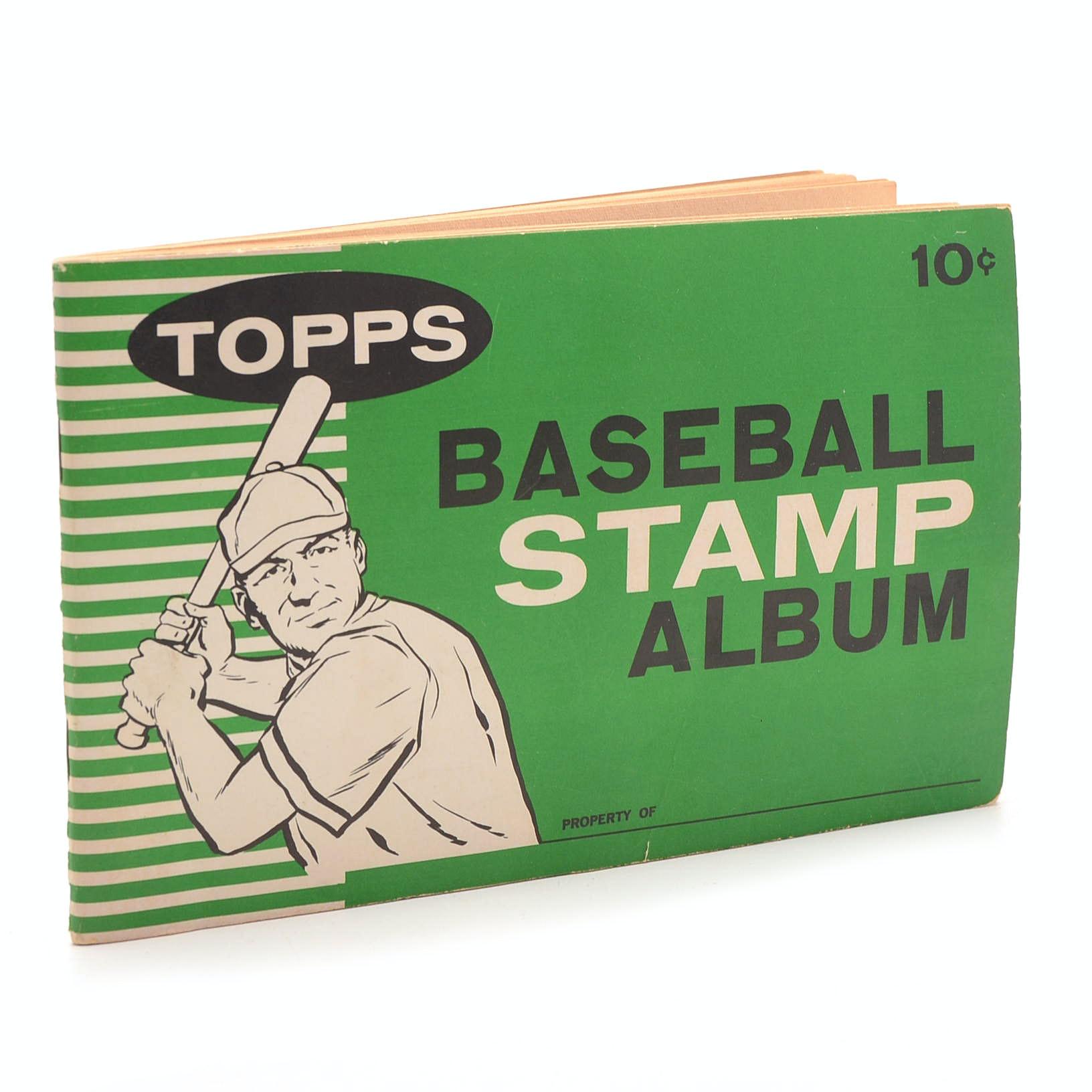 1961 Topps Baseball Stamp Album
