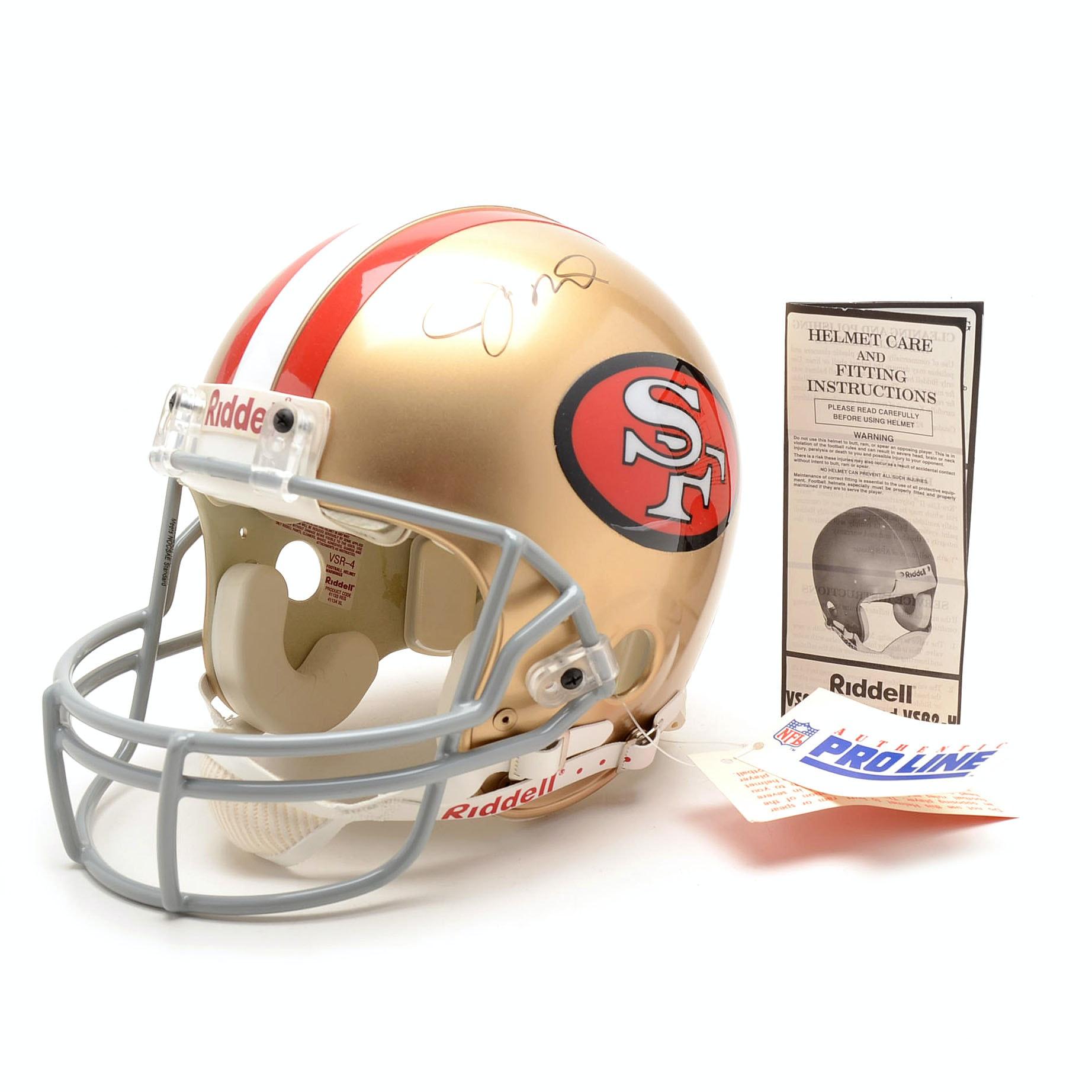 Joe Montana Signed Full Size 49ers Football Helmet COA