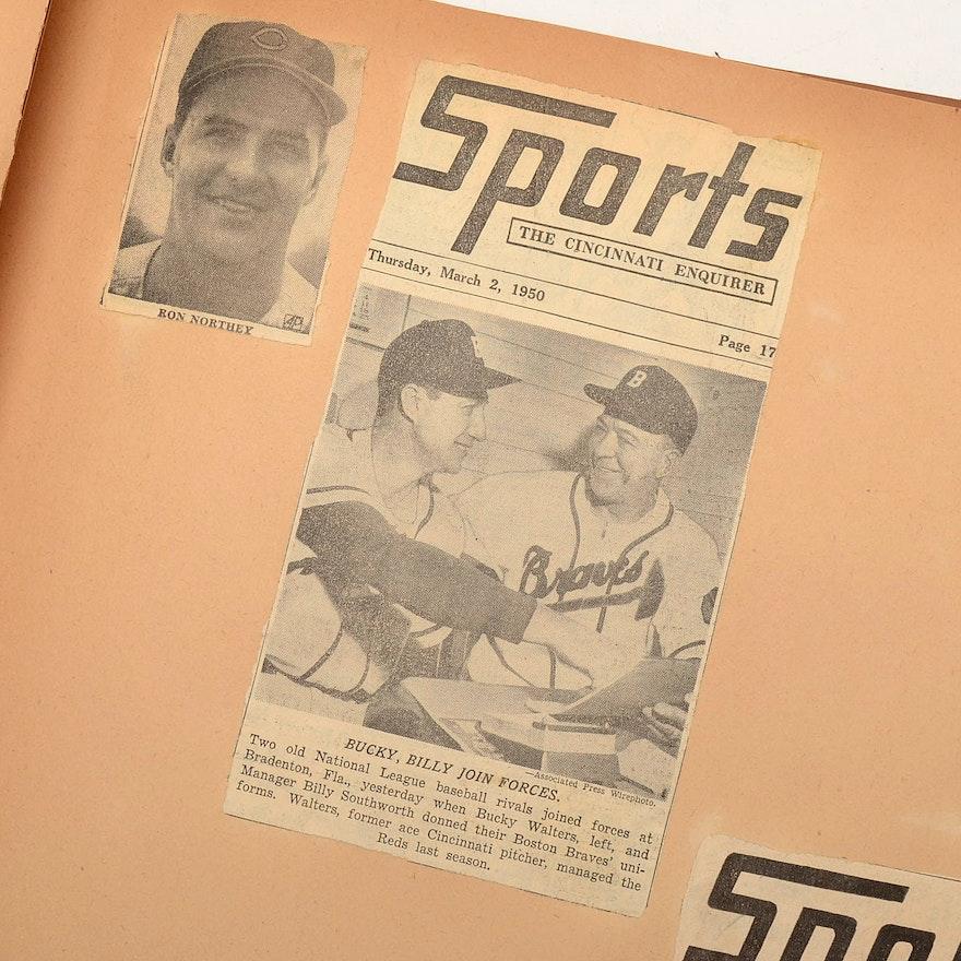Mid Century Baseball Scrapbook Ebth