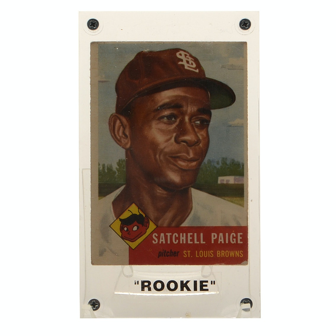 "1953 Satchel Paige Topps ""Rookie"" Baseball Card"