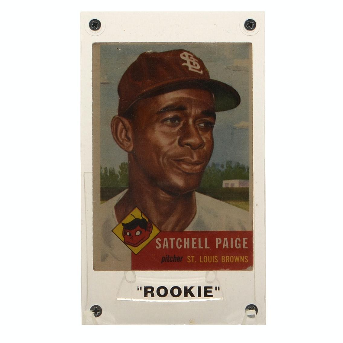 "1953 Satchel Paige Topps ""Rookie"" Baseball Card"