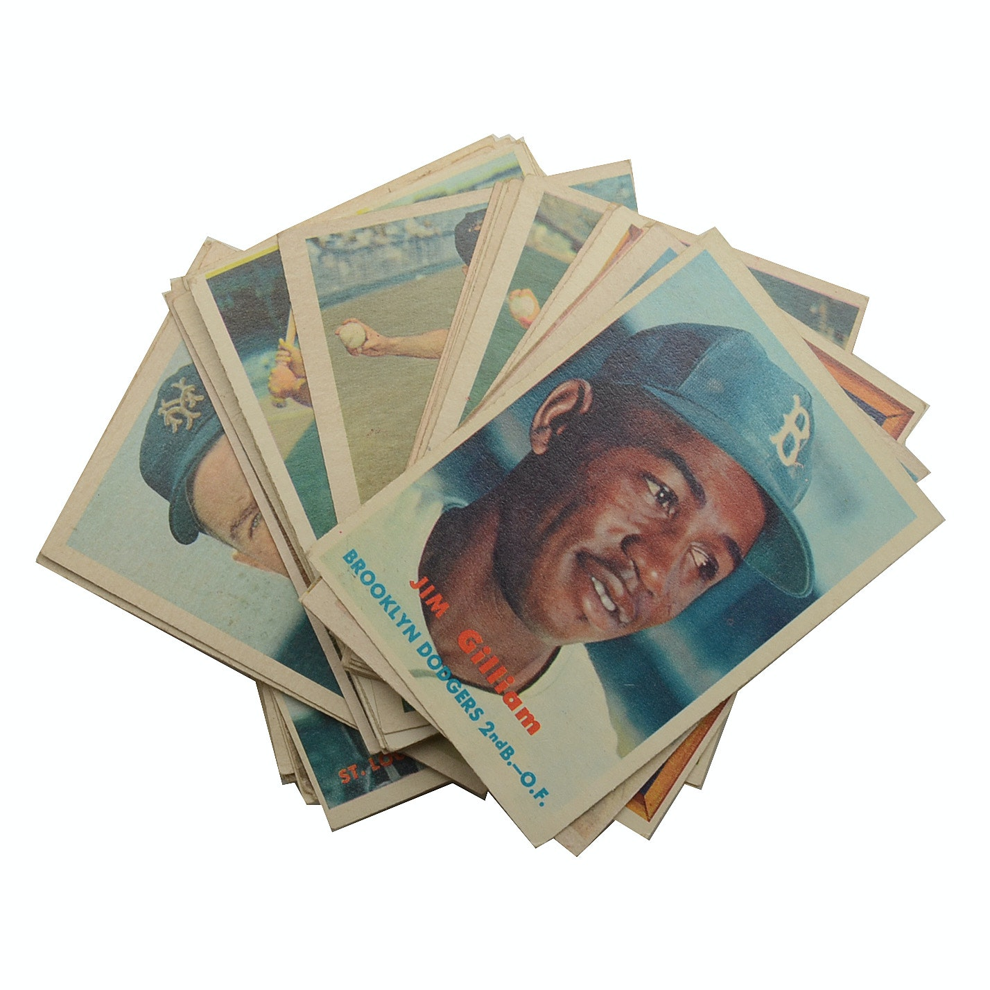 Fifty-Four 1957 Topps Baseball Cards