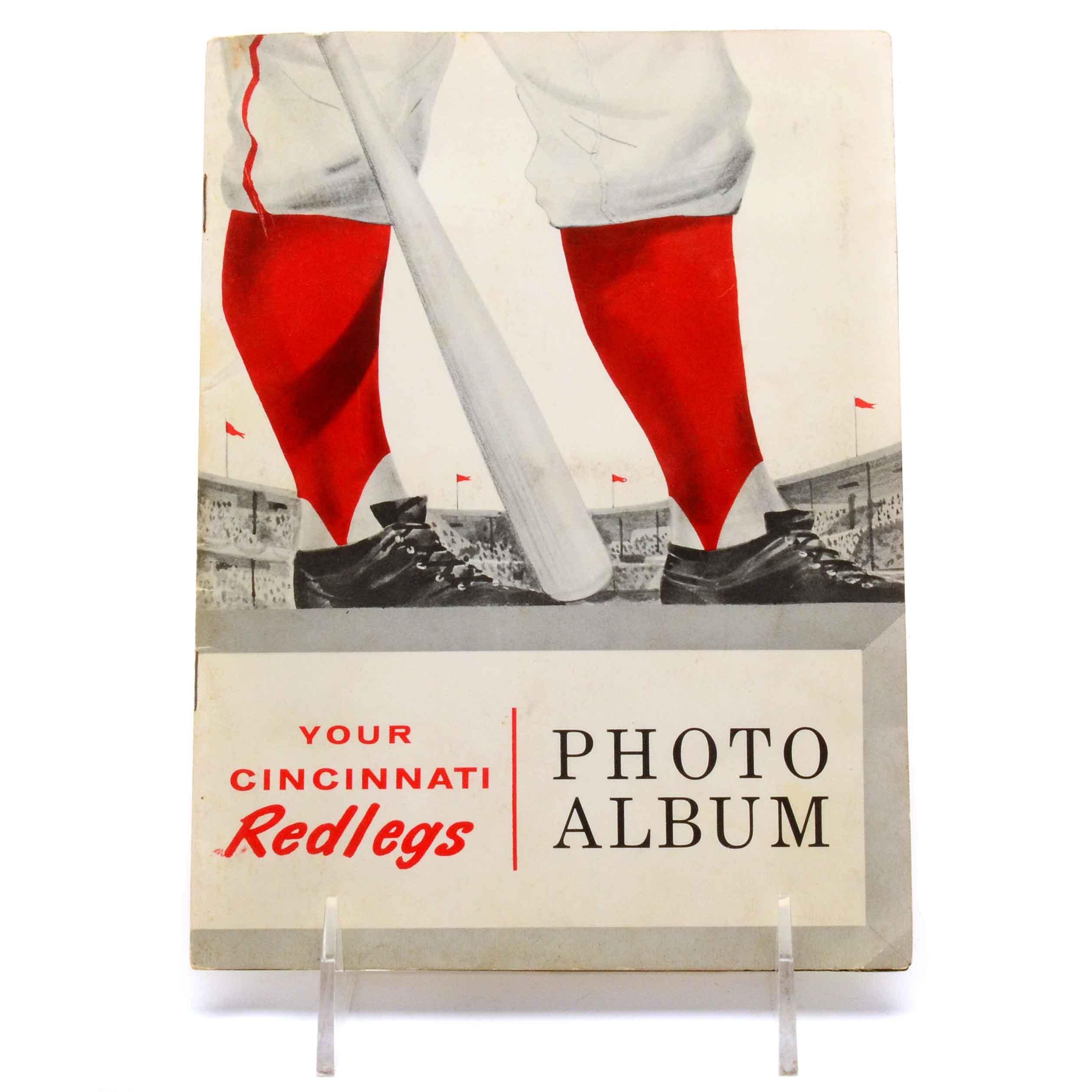"""1957 """"Redlegs"""" Sohio Player Photos and Album"""