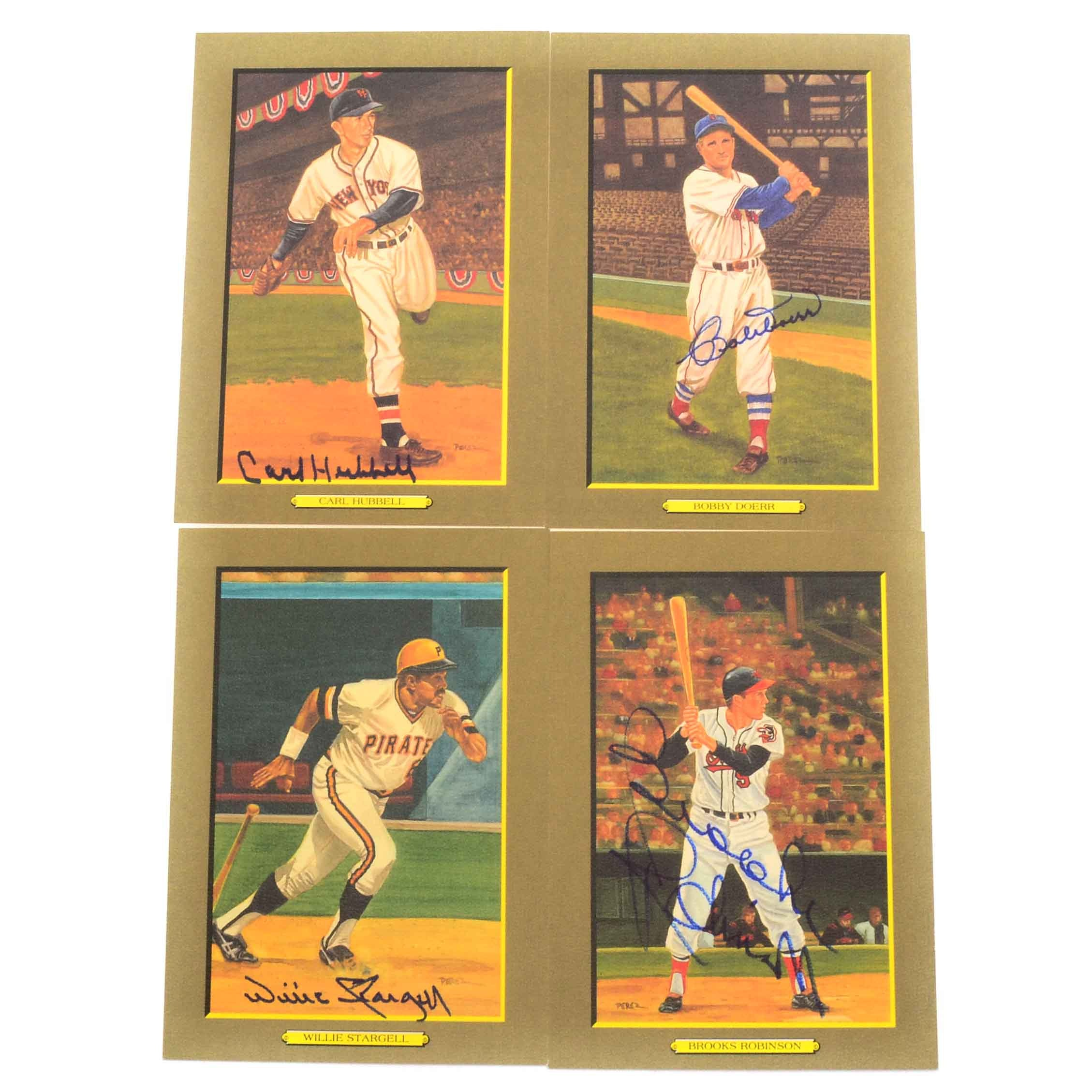 Four Baseball Stars Perez Steele Cards