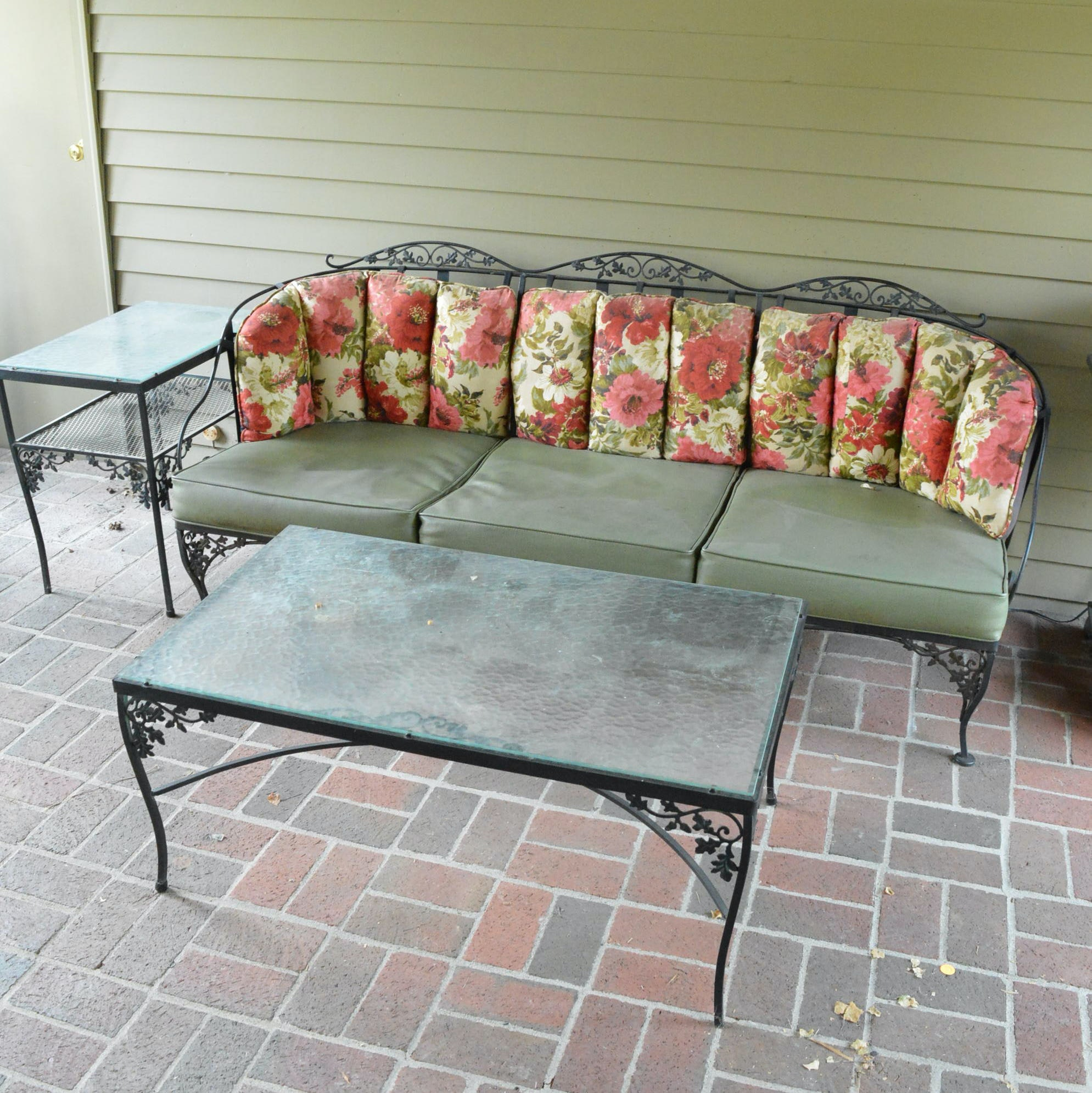 Patio Sofa with End and Coffee Tables