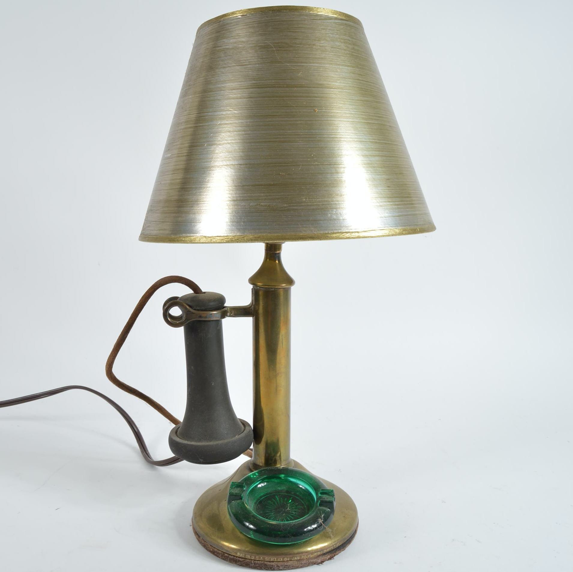 Converted Candlestick Telephone Lamp