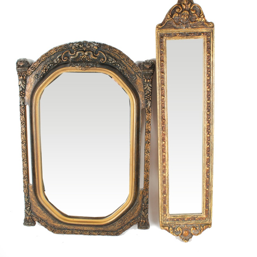 Vintage Wooden Wall Mirrors