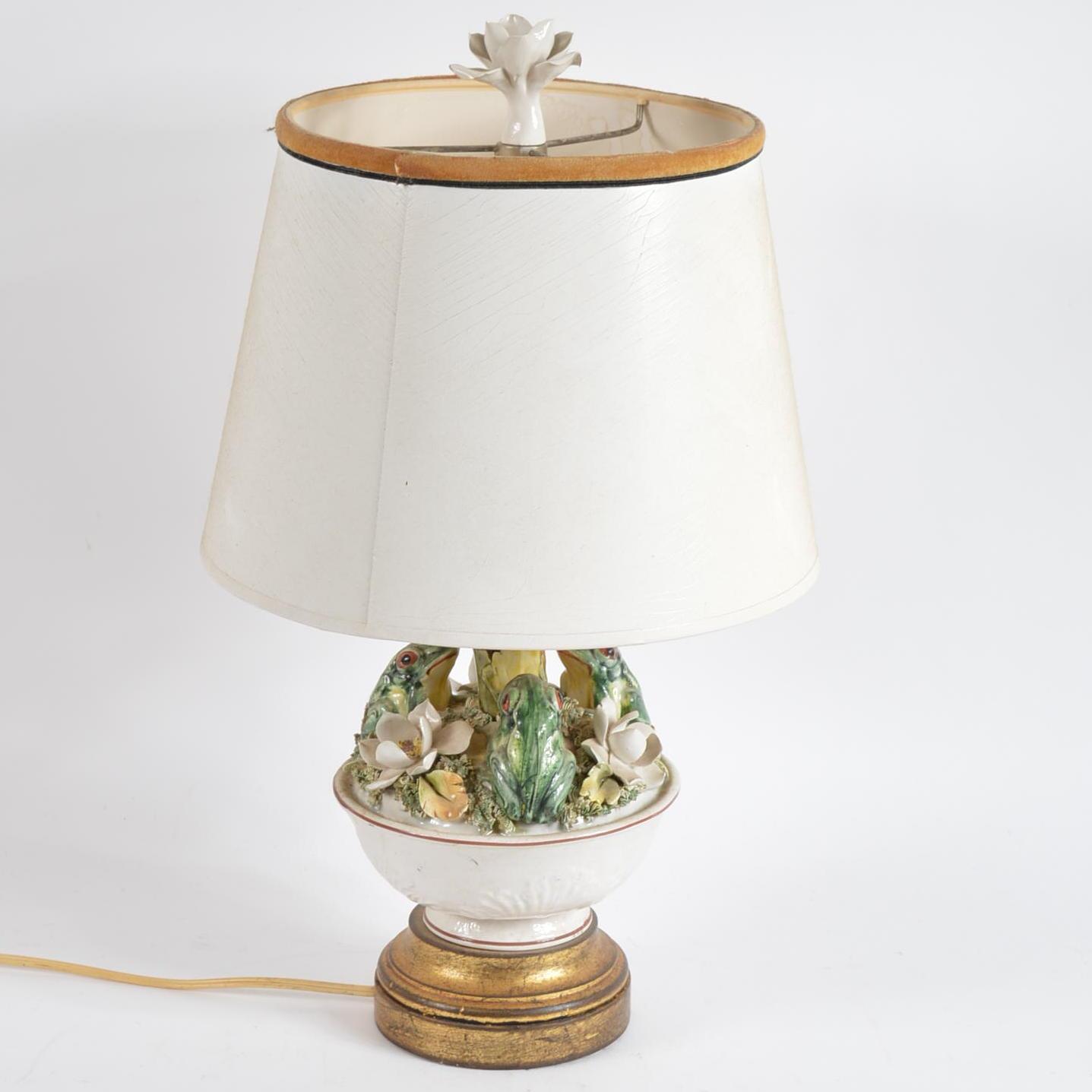 Ceramic Frog Table Lamp : EBTH