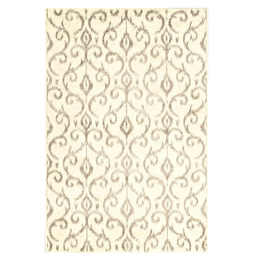 Cream and Silvery Taupe Area Rug
