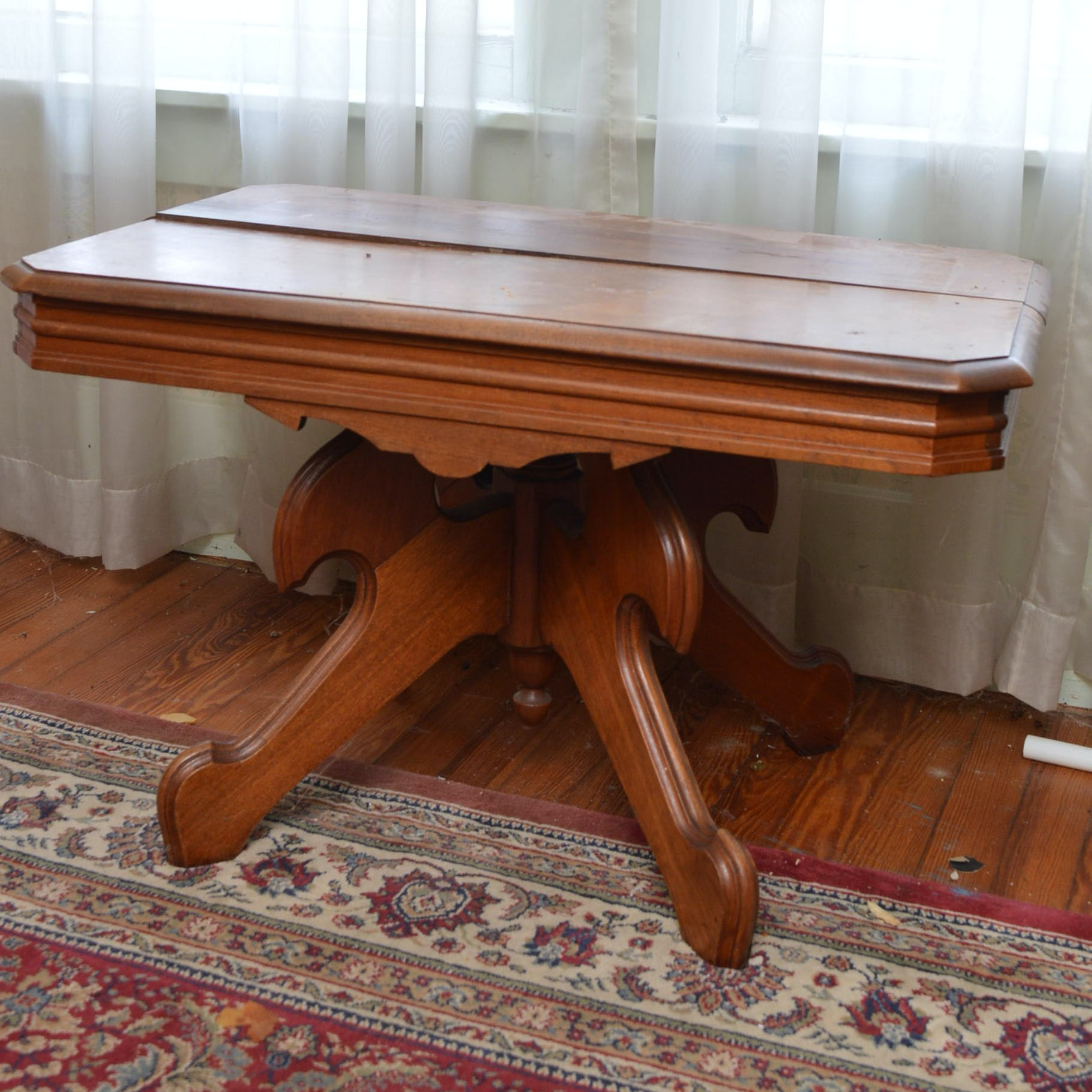 Antique Eastlake Style Walnut Side Table