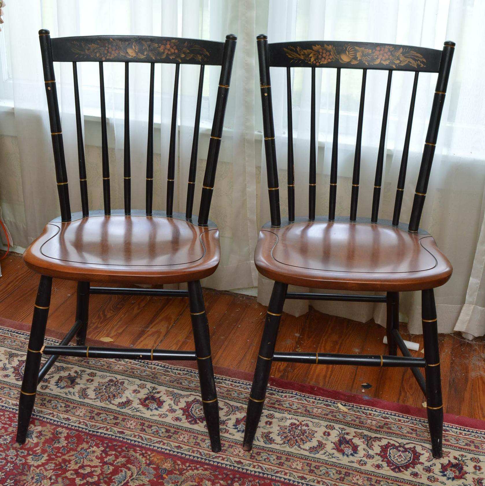 Hitchcock Style Chair Pair