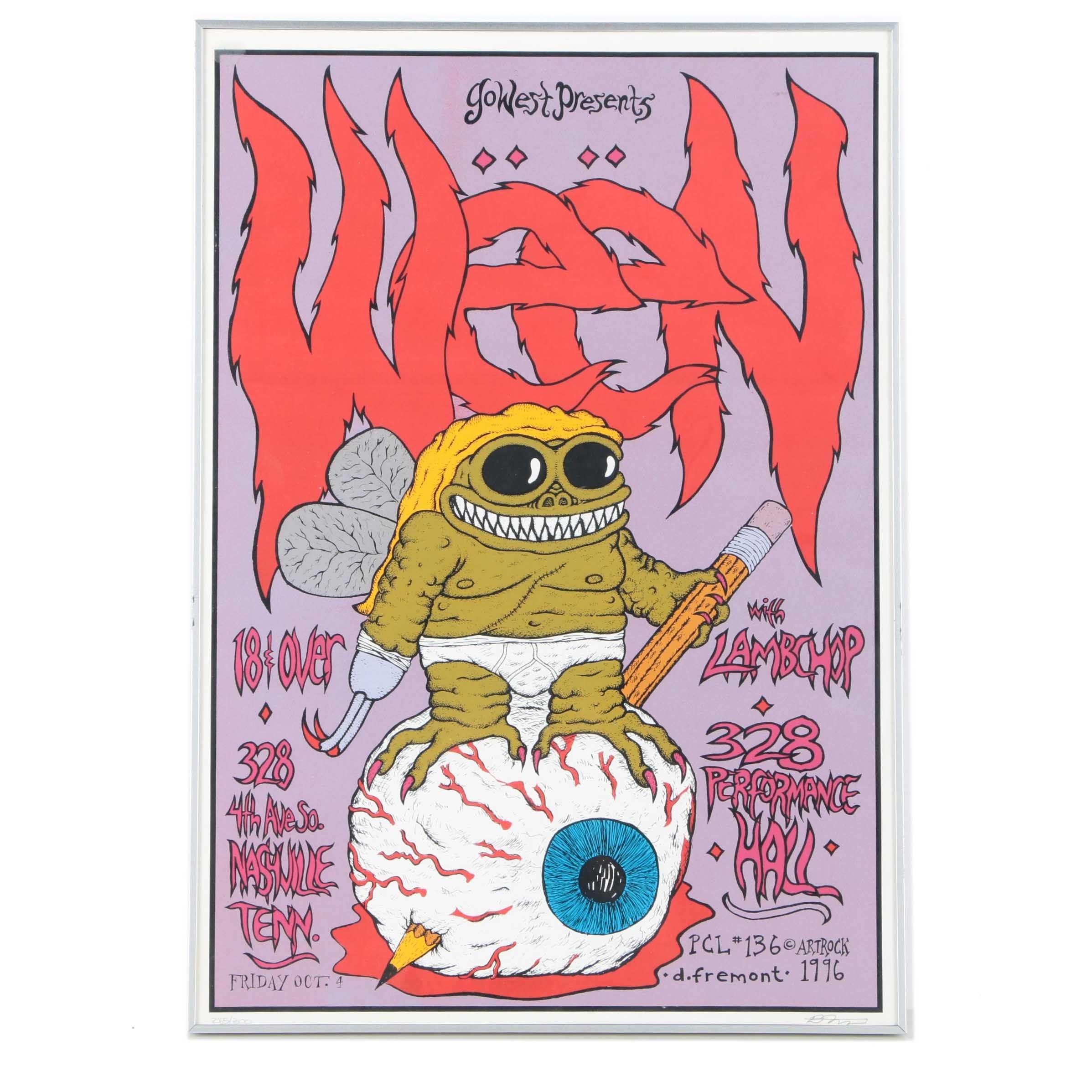 David Fremont Limited Edition Serigraph Concert Poster