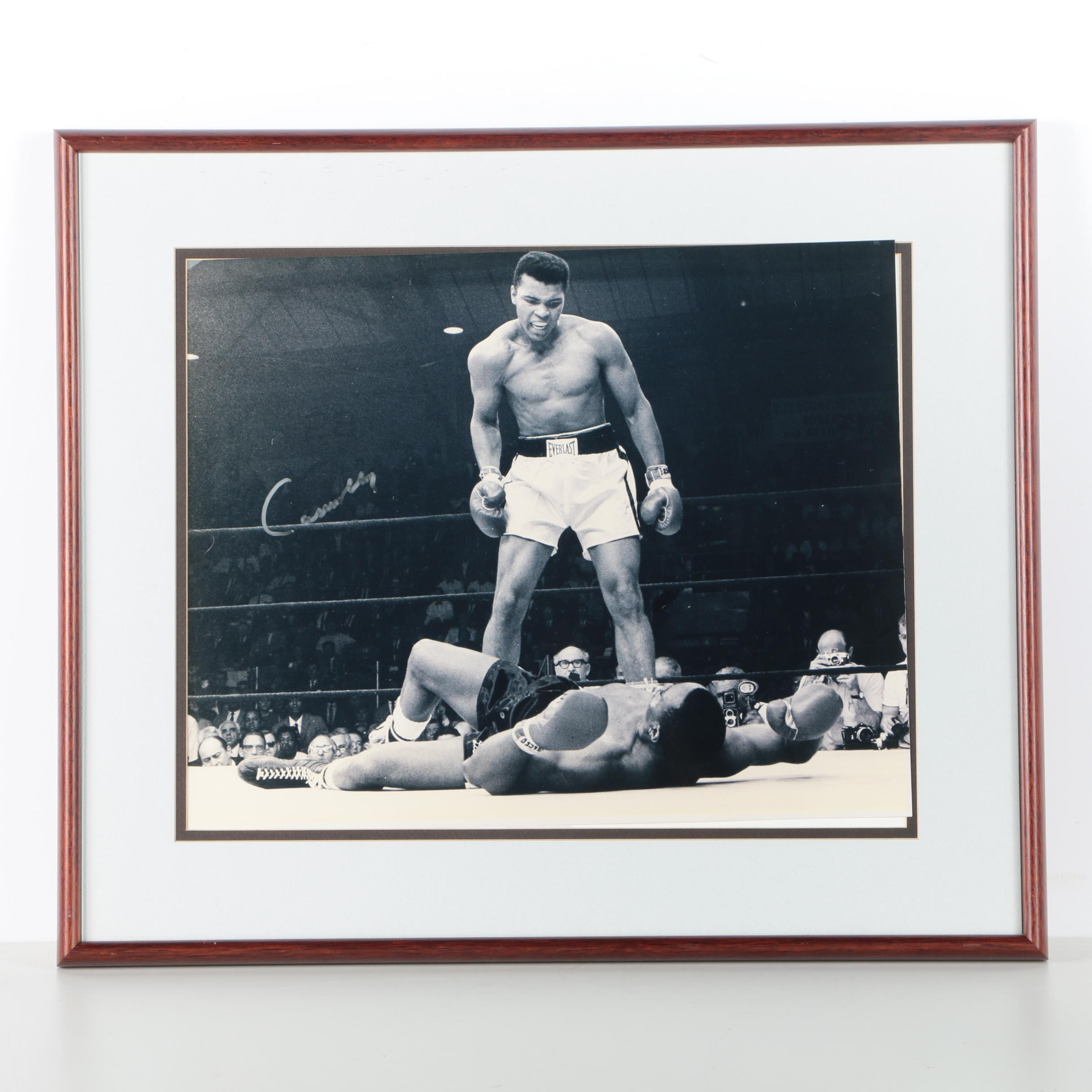 "RARE SIGNED Cassius Clay ""Muhammad Ali"" over Sonny Liston"