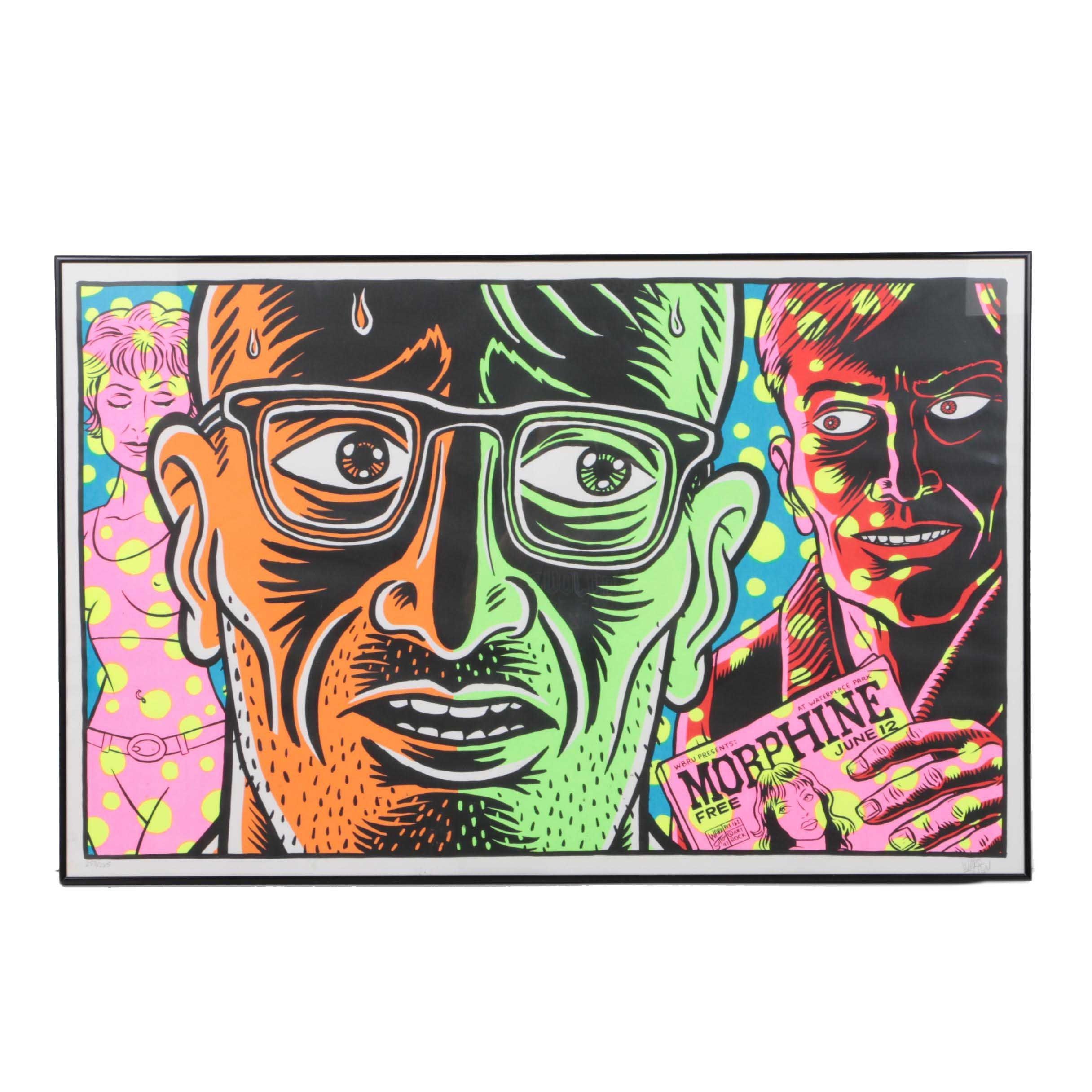 "Ward Sutton Limited Edition Serigraph ""WBRU Presents: Morphine"""
