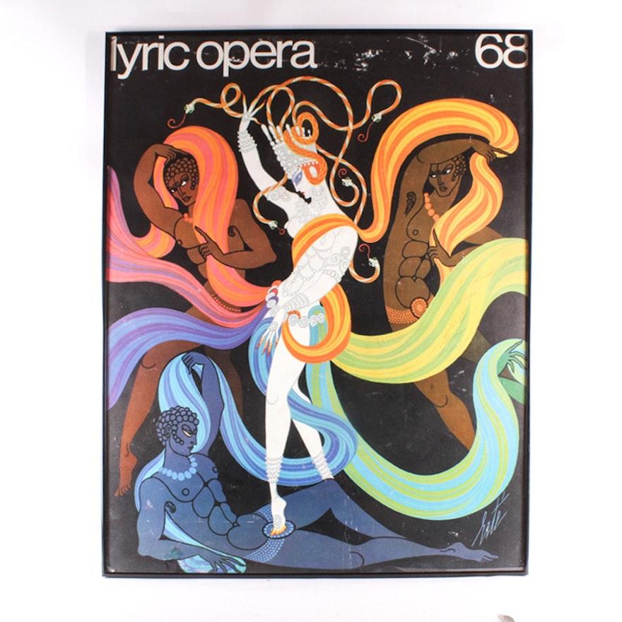 Erte Poster for the Lyric Opera 68, Signed