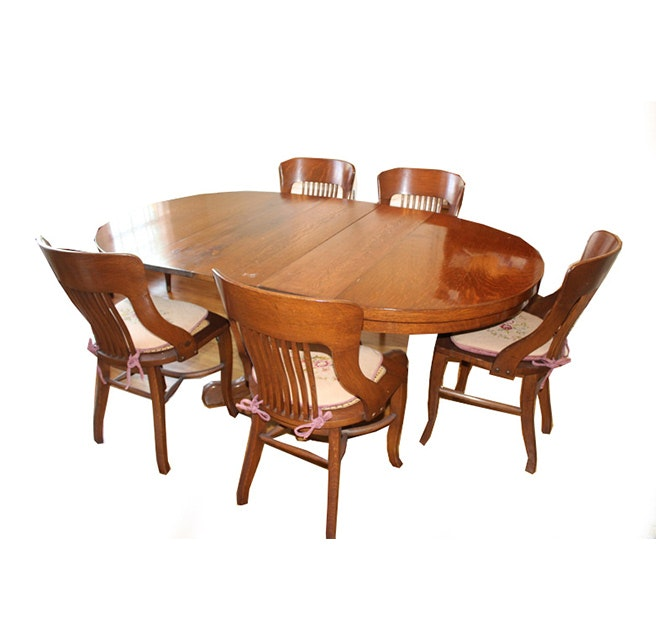 Vintage Oak Dining Set