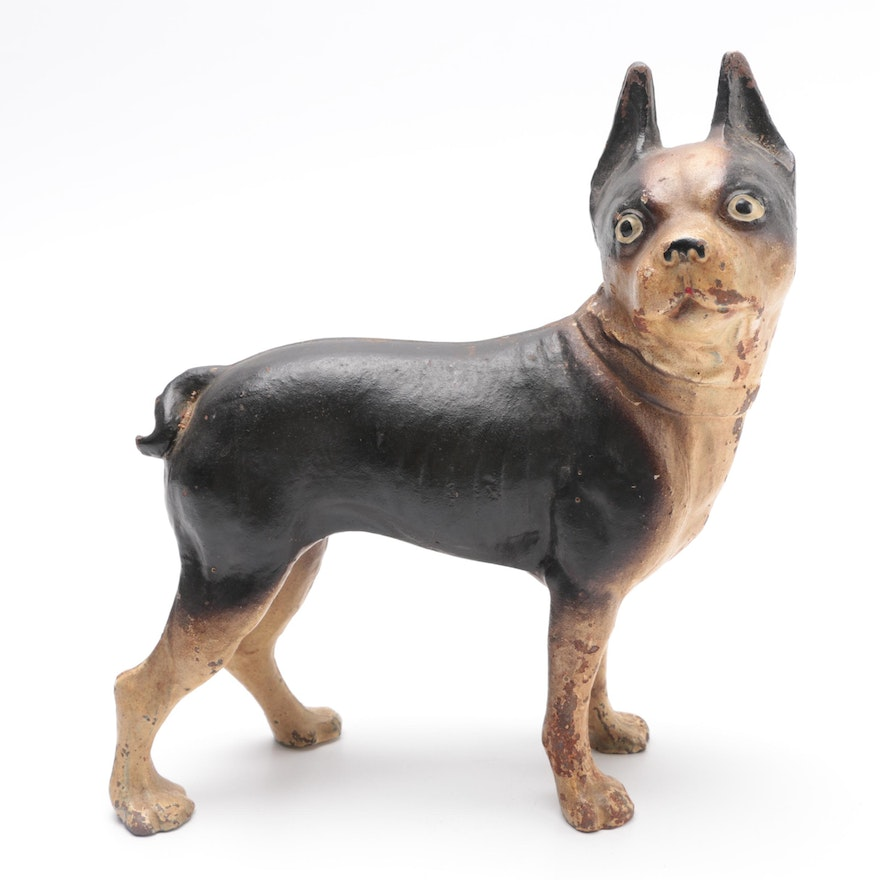 Antique Cast Iron Boston Terrier Door Stop ... - Antique Cast Iron Boston Terrier Door Stop : EBTH