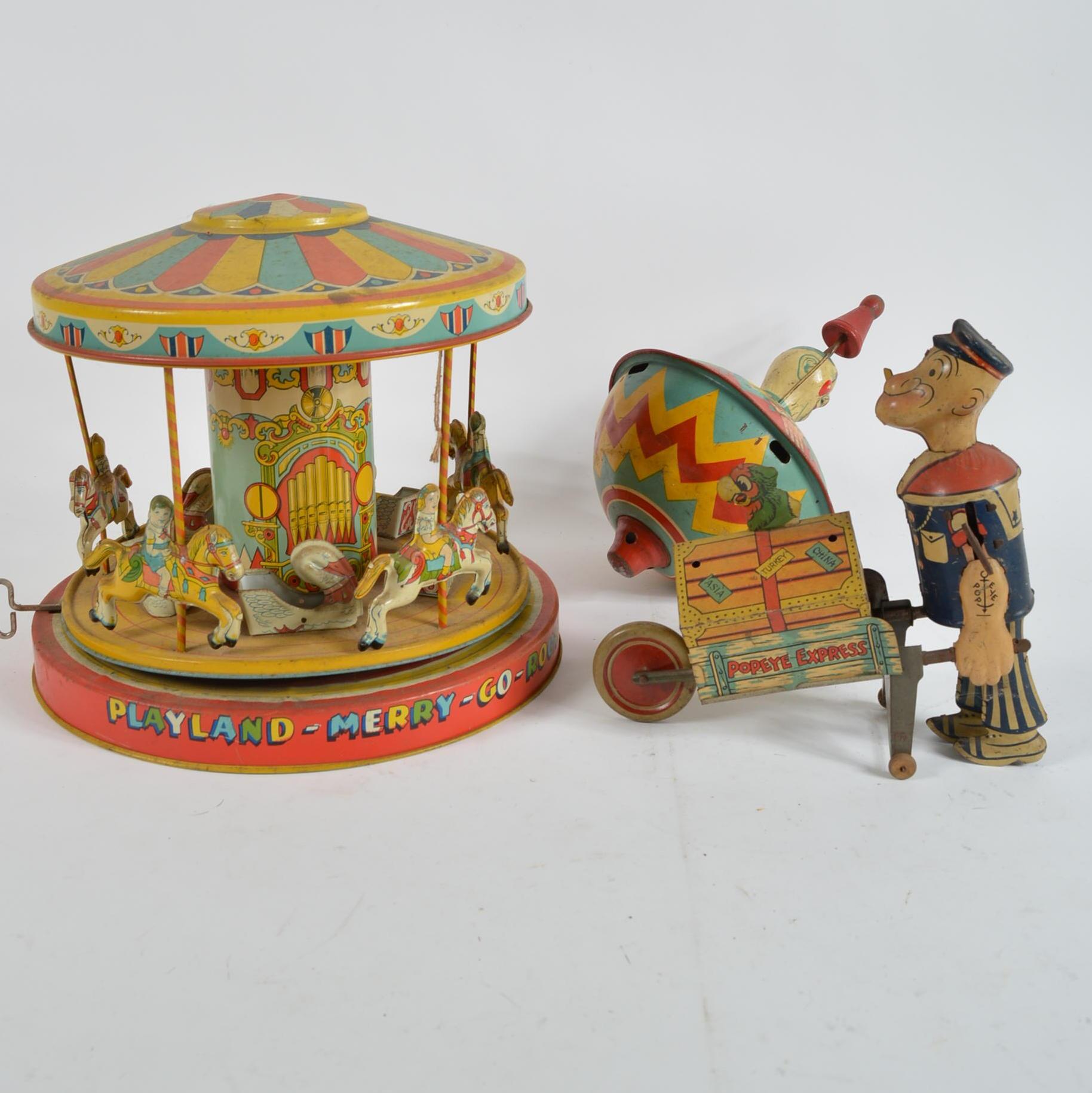 Vintage Action Tin Toys