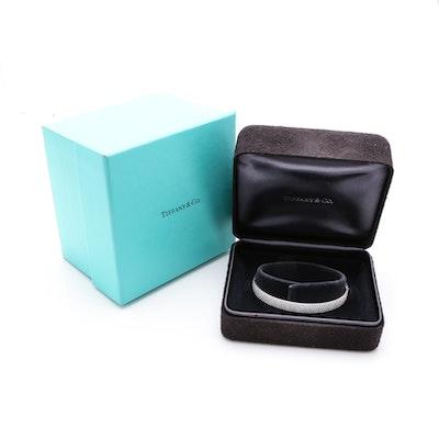 Tiffany & Co. 18K White Gold 2.09 CTW Diamond Metro Bangle
