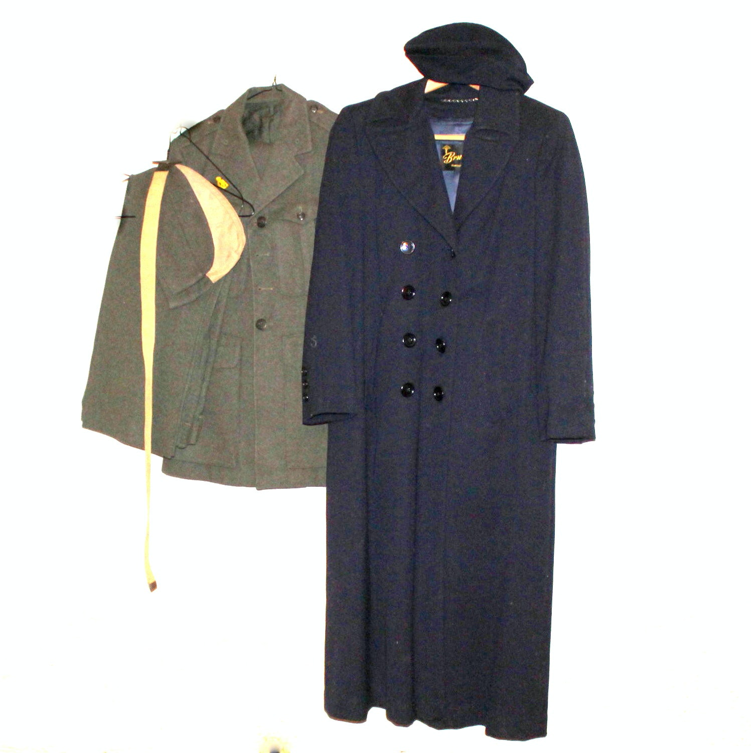 Vintage Marine Corps Uniform and Nurse's Coat