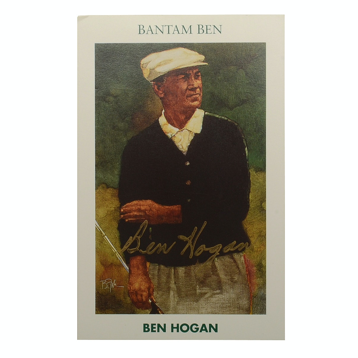 Ben Hogan Golfing Great Signed 1992 Over-Sized Card