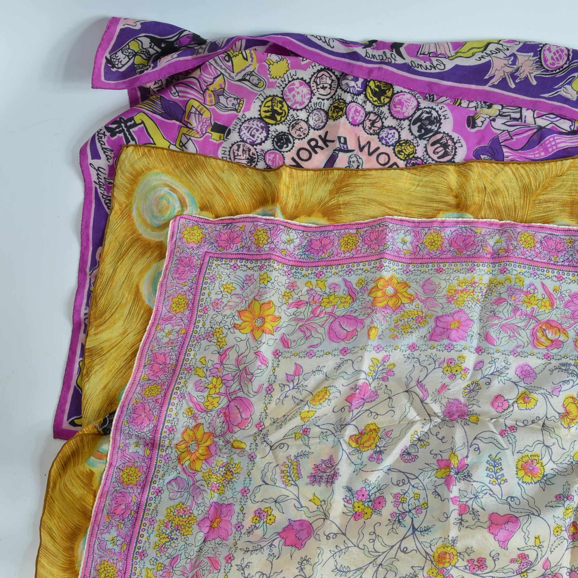 Assortment of Silk Scarves