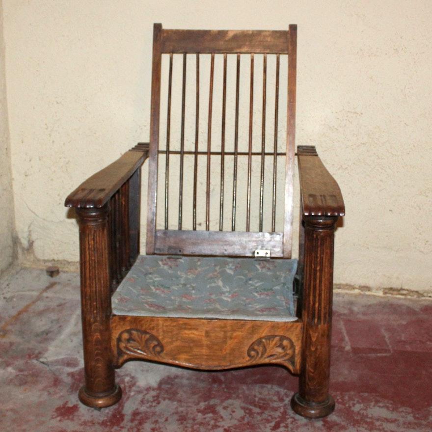 Antique Morris Reclining Chair ... - Antique Morris Reclining Chair : EBTH
