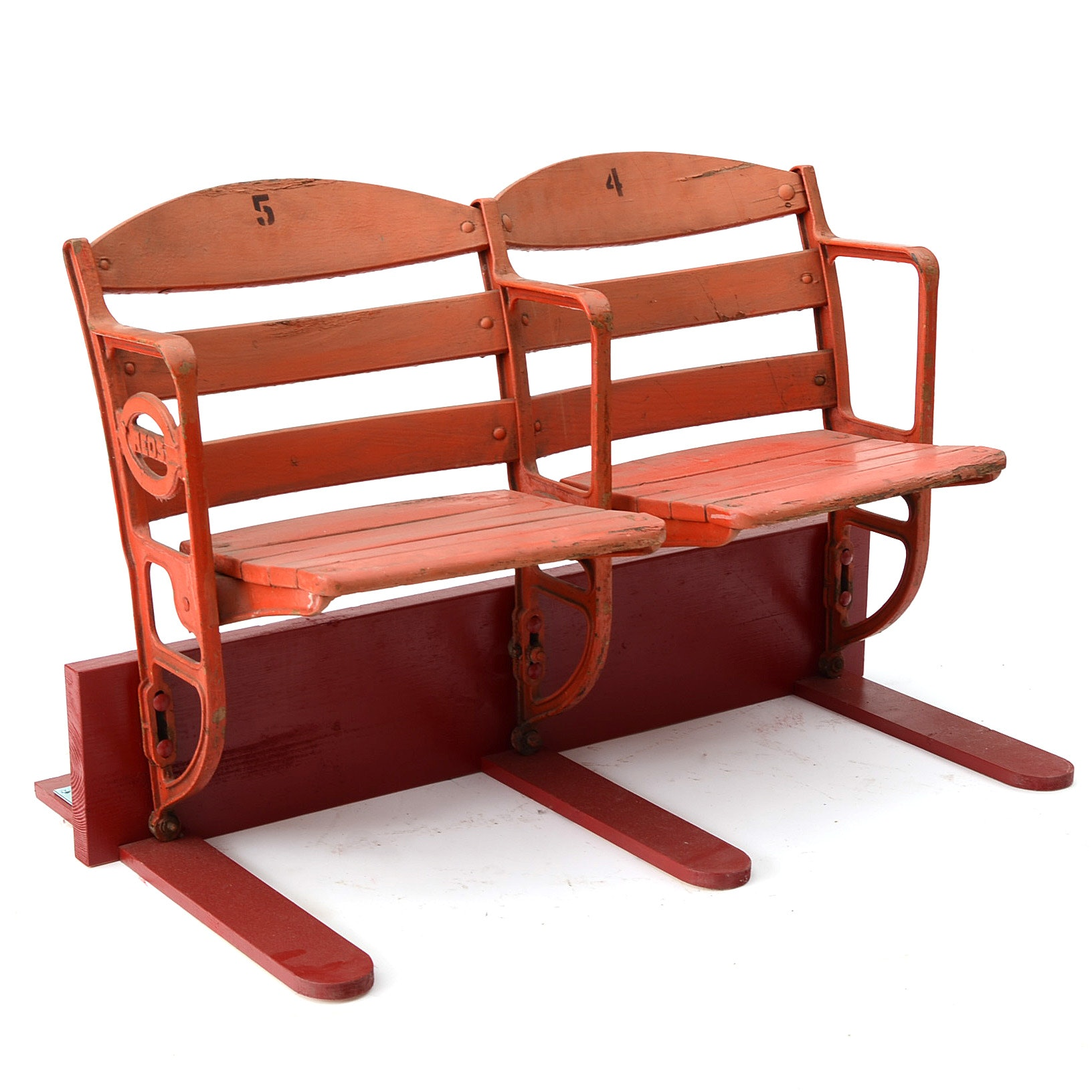 Crosley Field Seats with Emblem
