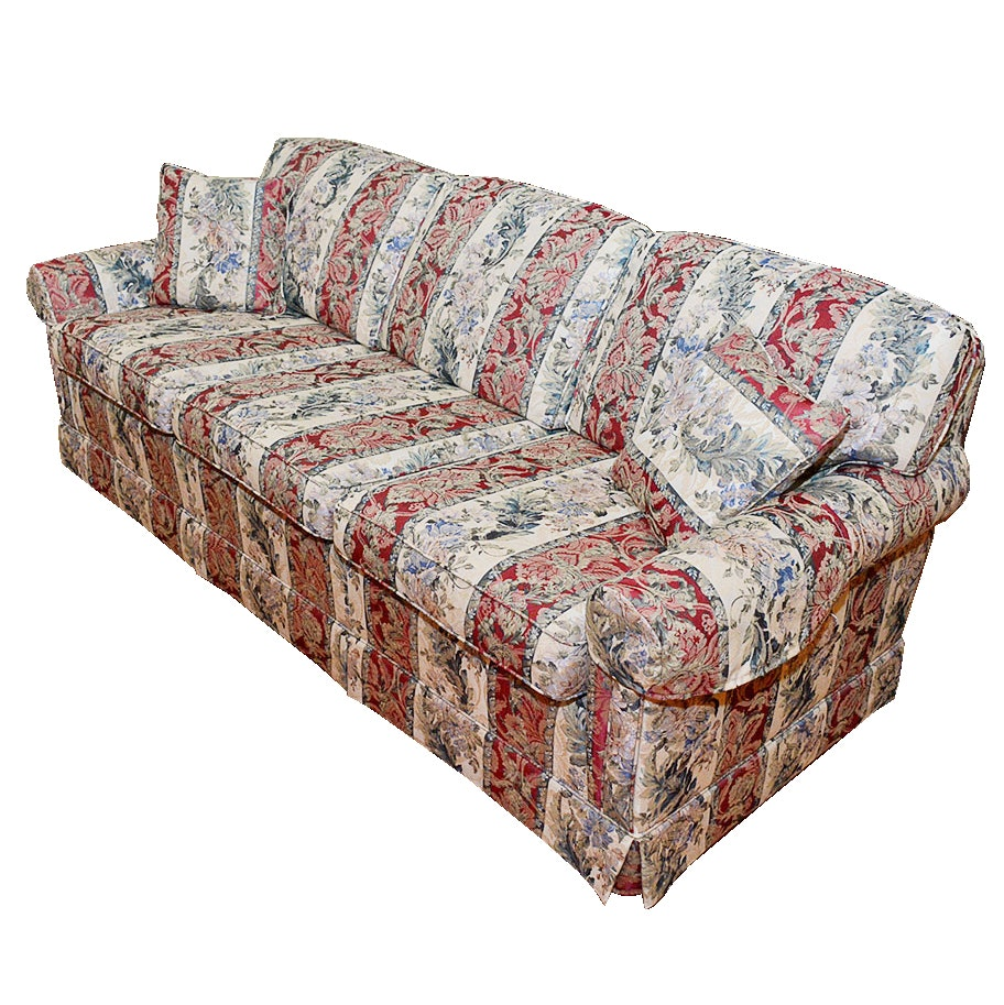 Smith Brothers Floral Upholstered Sofa