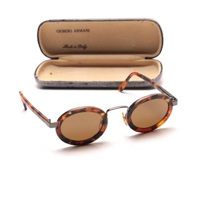 Vintage Armani Faux Tortoise Shell Sunglasses